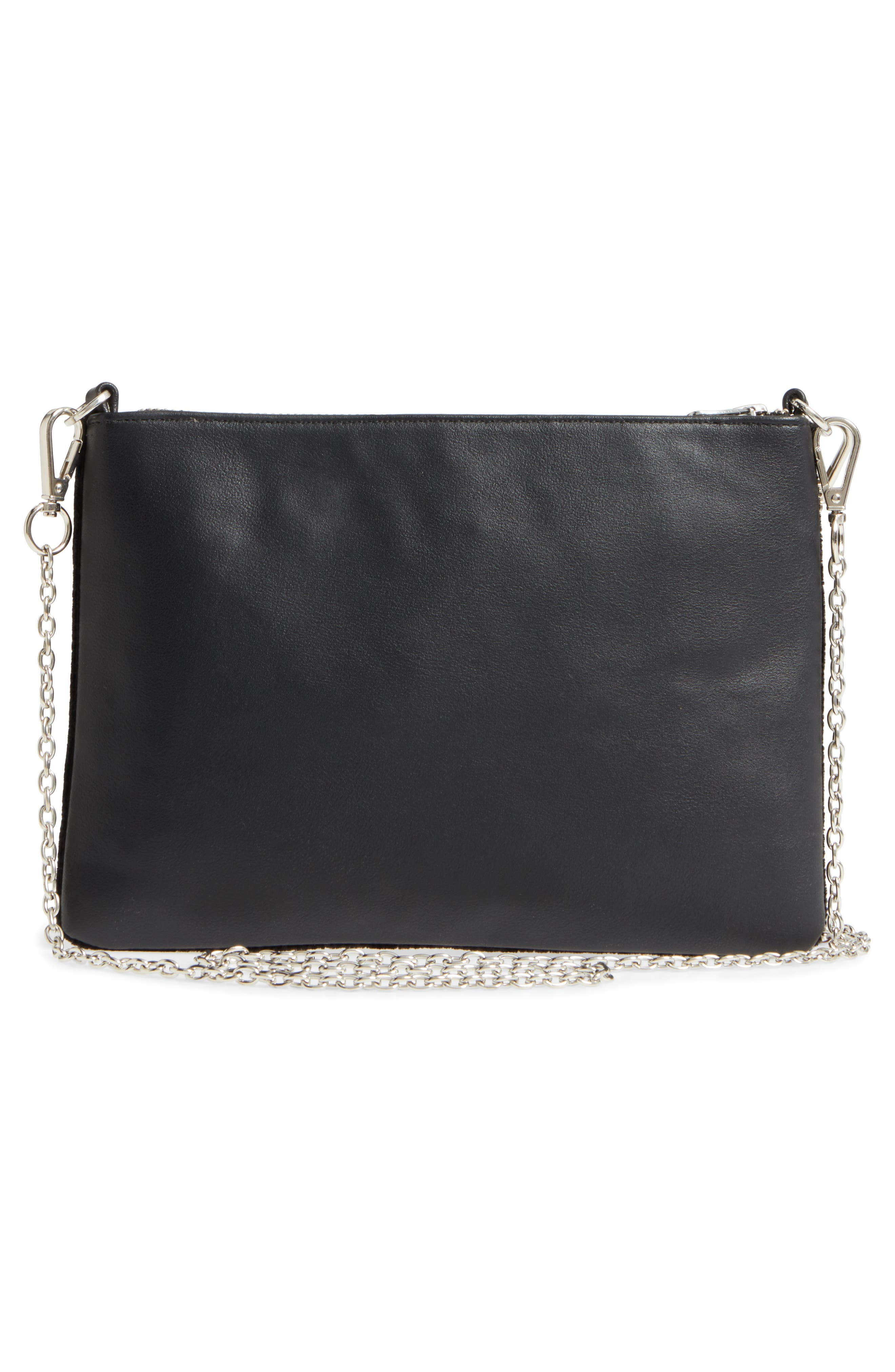 Embellished Faux Leather Clutch,                             Alternate thumbnail 3, color,                             960