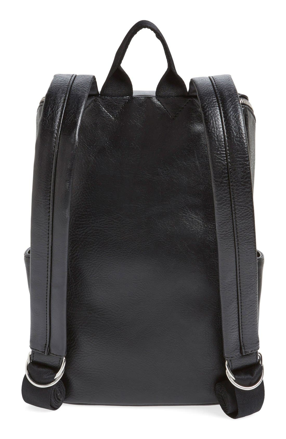 'Brave' Faux Leather Backpack,                             Alternate thumbnail 40, color,