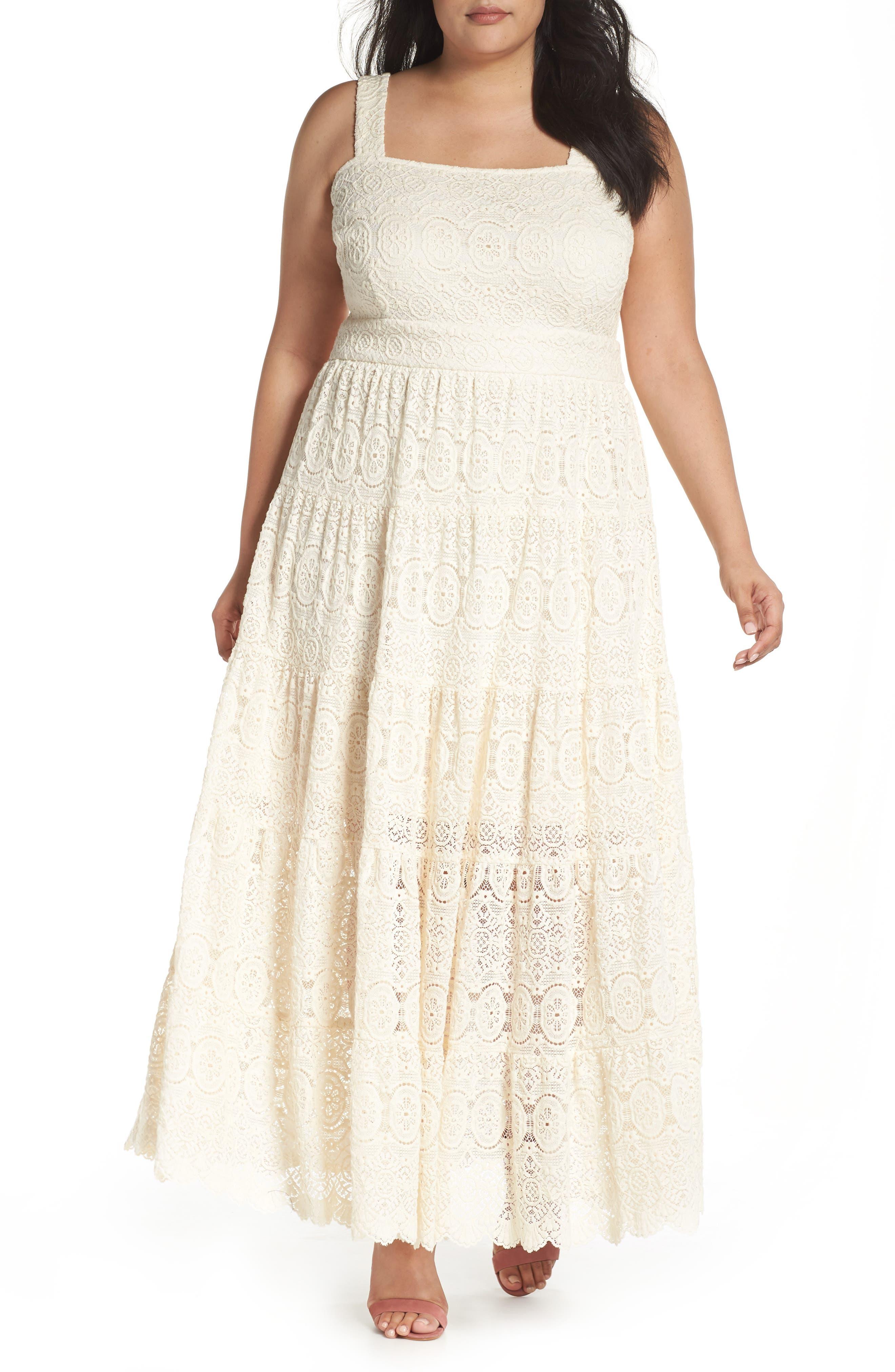 Tiered Lace Maxi Dress,                             Main thumbnail 1, color,