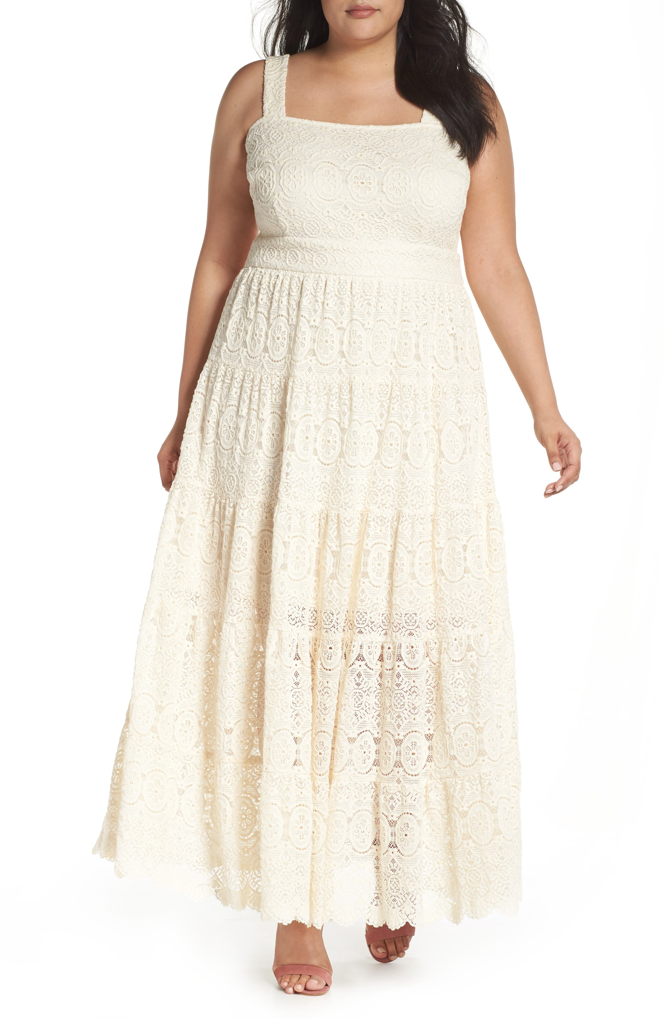 Tiered Lace Maxi Dress,                         Main,                         color,