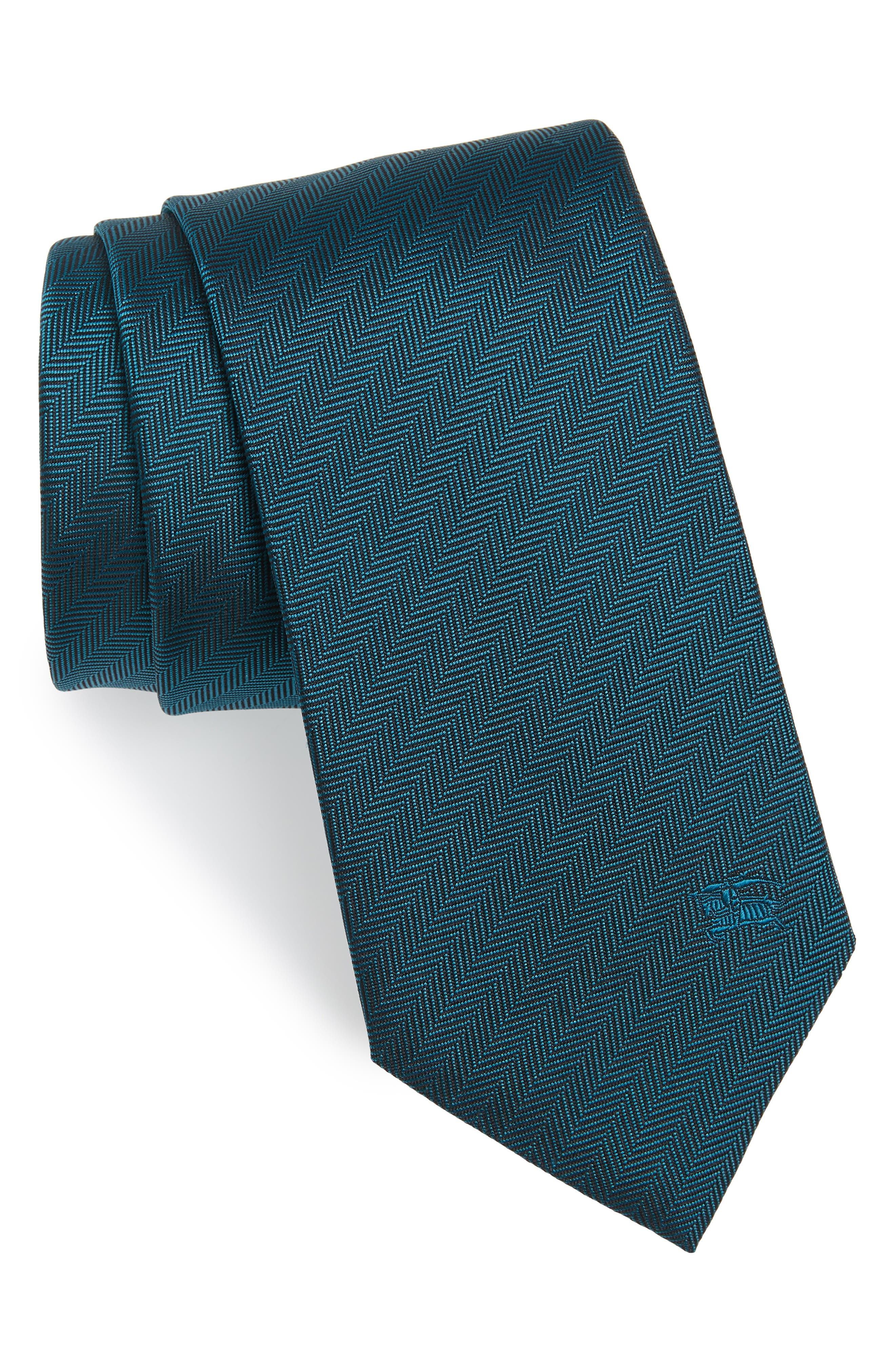 Herringbone Silk Tie,                         Main,                         color, 452