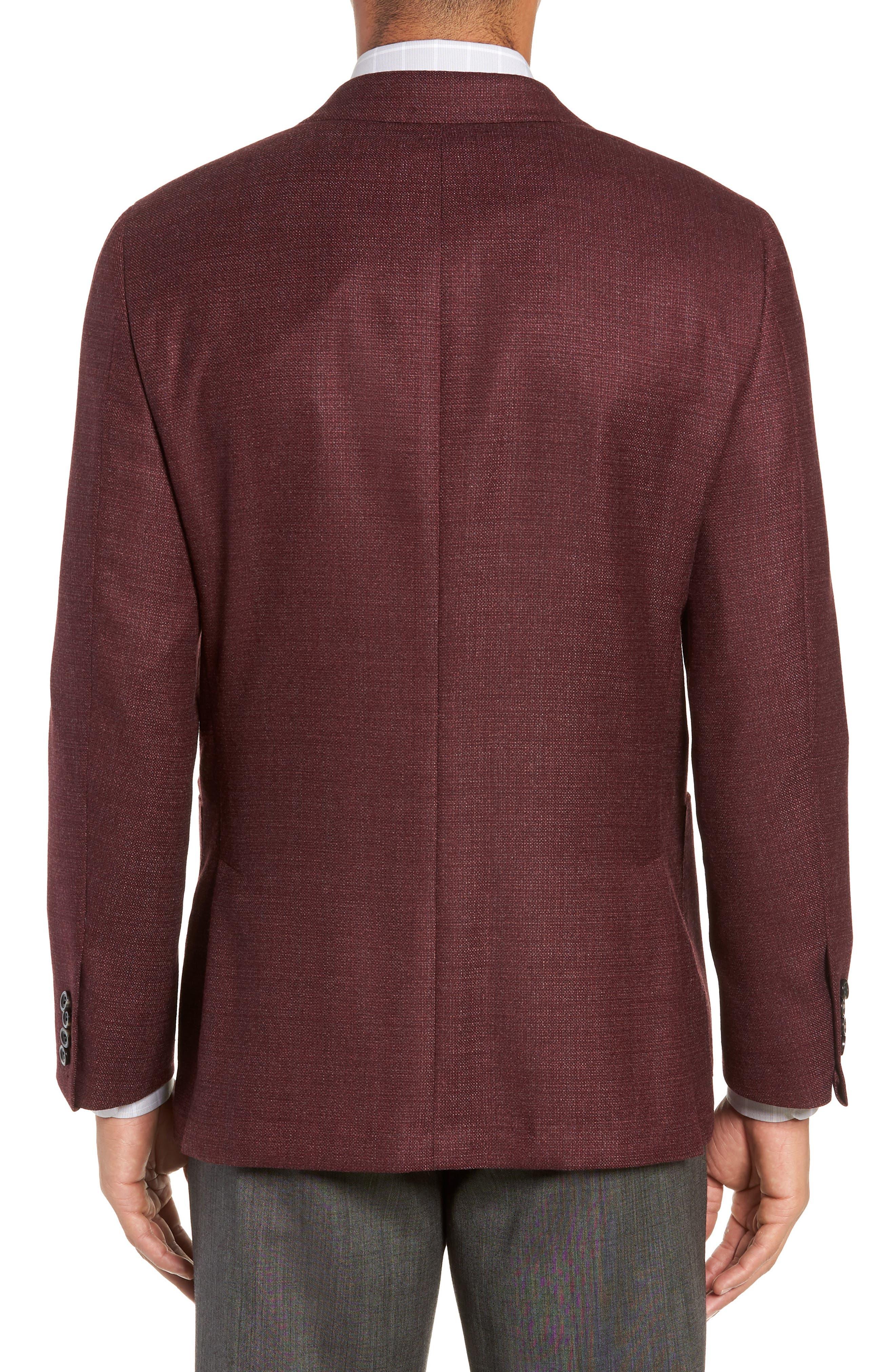 Weightless Classic Fit Wool & Silk Sport Coat,                             Alternate thumbnail 2, color,                             BURGUNDY