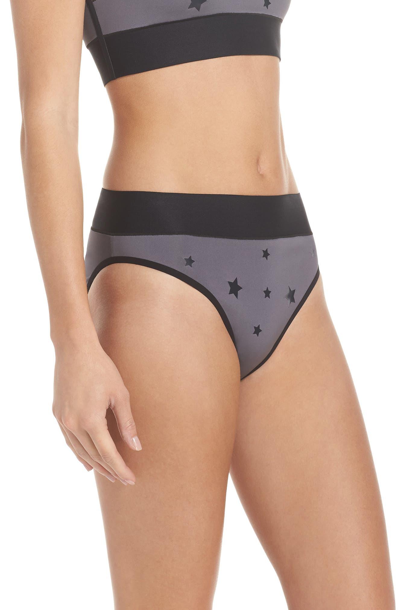 Argon Luster High Waist Bikini Bottoms,                             Alternate thumbnail 3, color,                             020