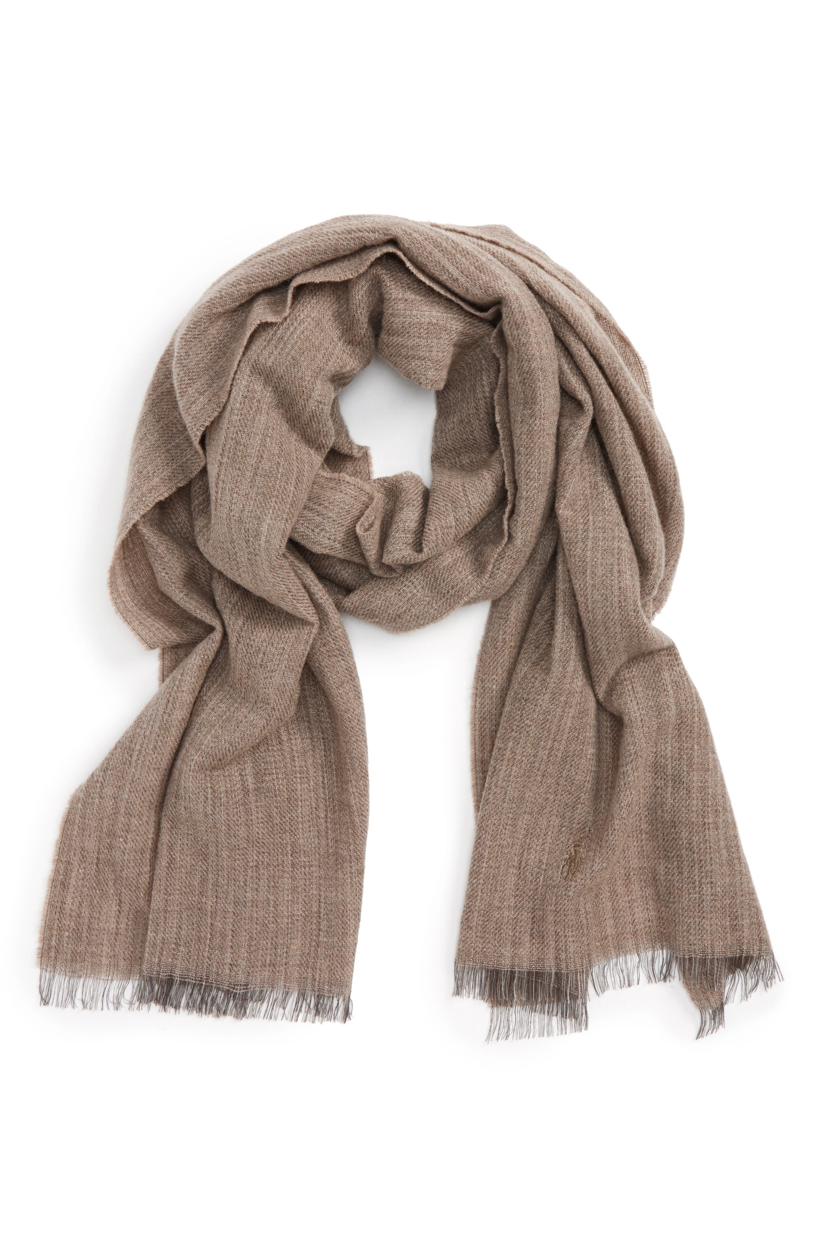 Délavé Lightweight Wool Blend Scarf,                             Main thumbnail 2, color,