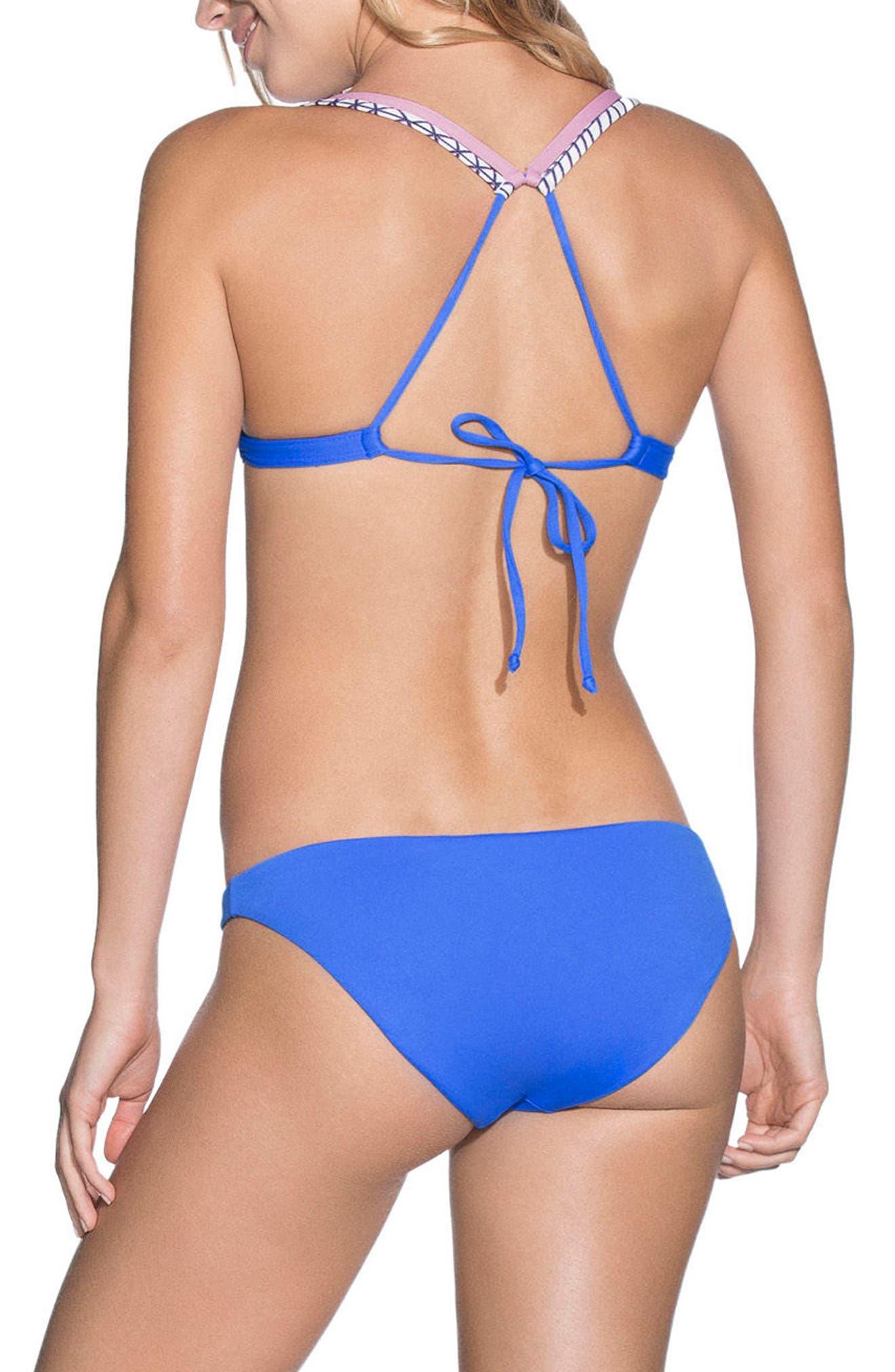 Neptune Blue Sublime Reversible Bikini Bottoms,                             Alternate thumbnail 5, color,                             400