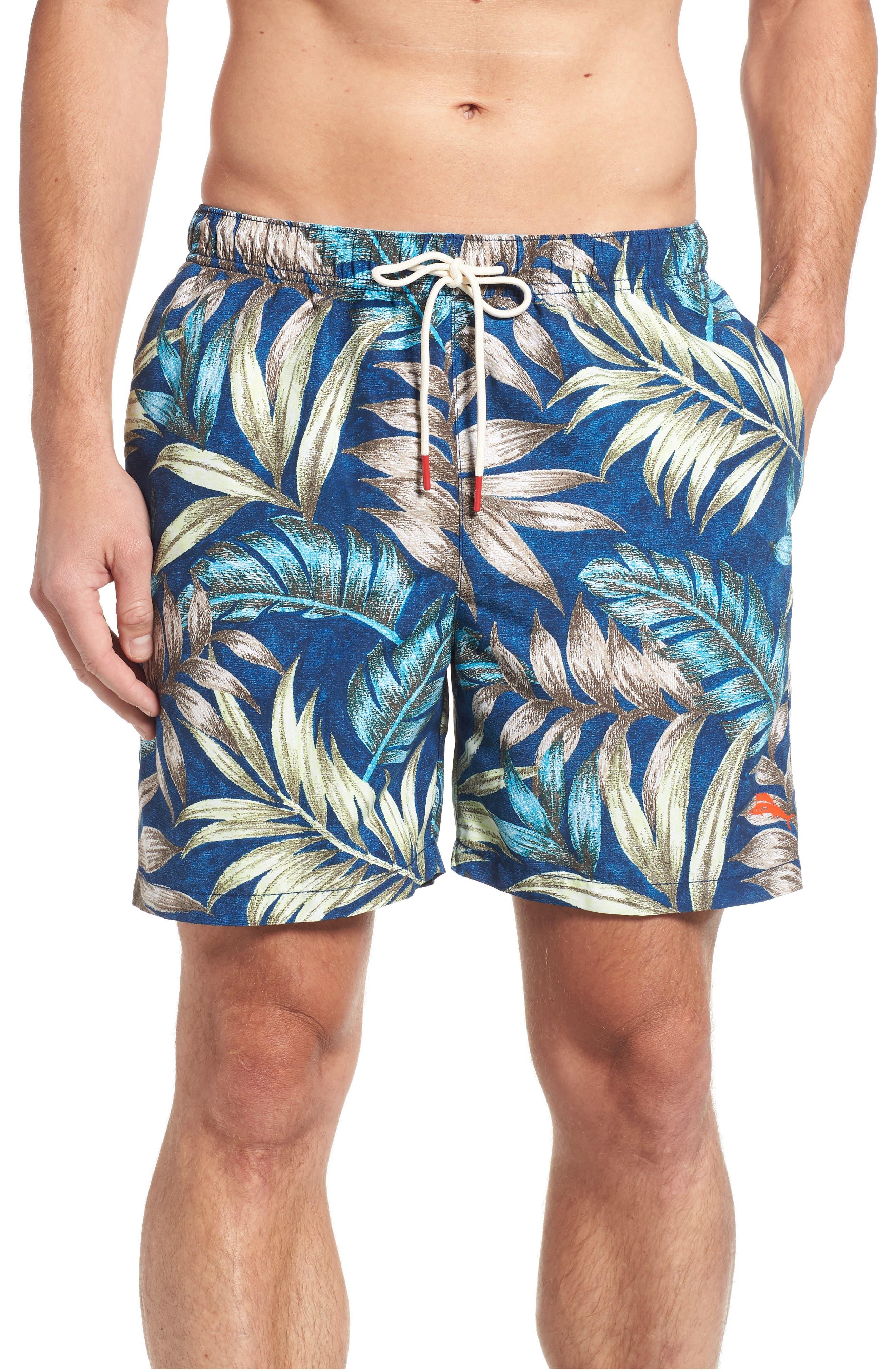 Naples Parque Palms Swim Trunks,                             Main thumbnail 1, color,                             400