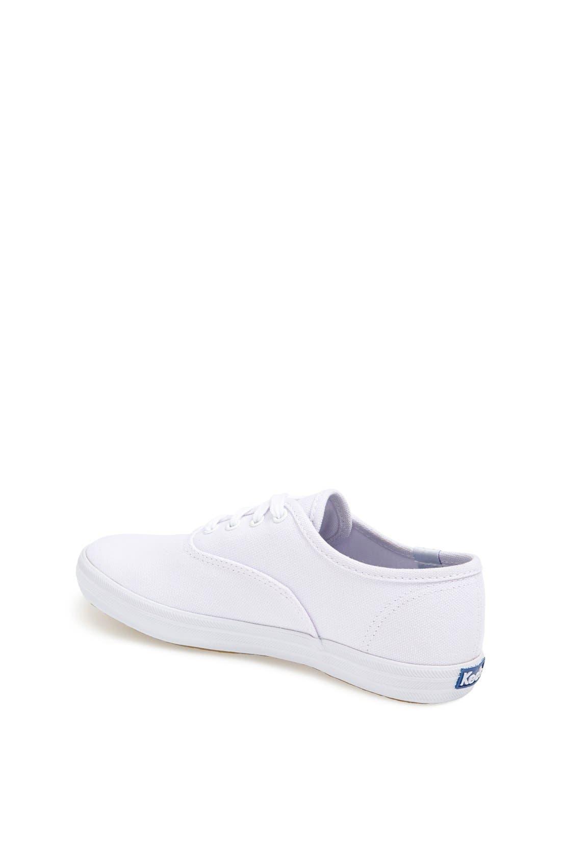 'Champion' Canvas Sneaker,                             Alternate thumbnail 6, color,                             NEW WHITE