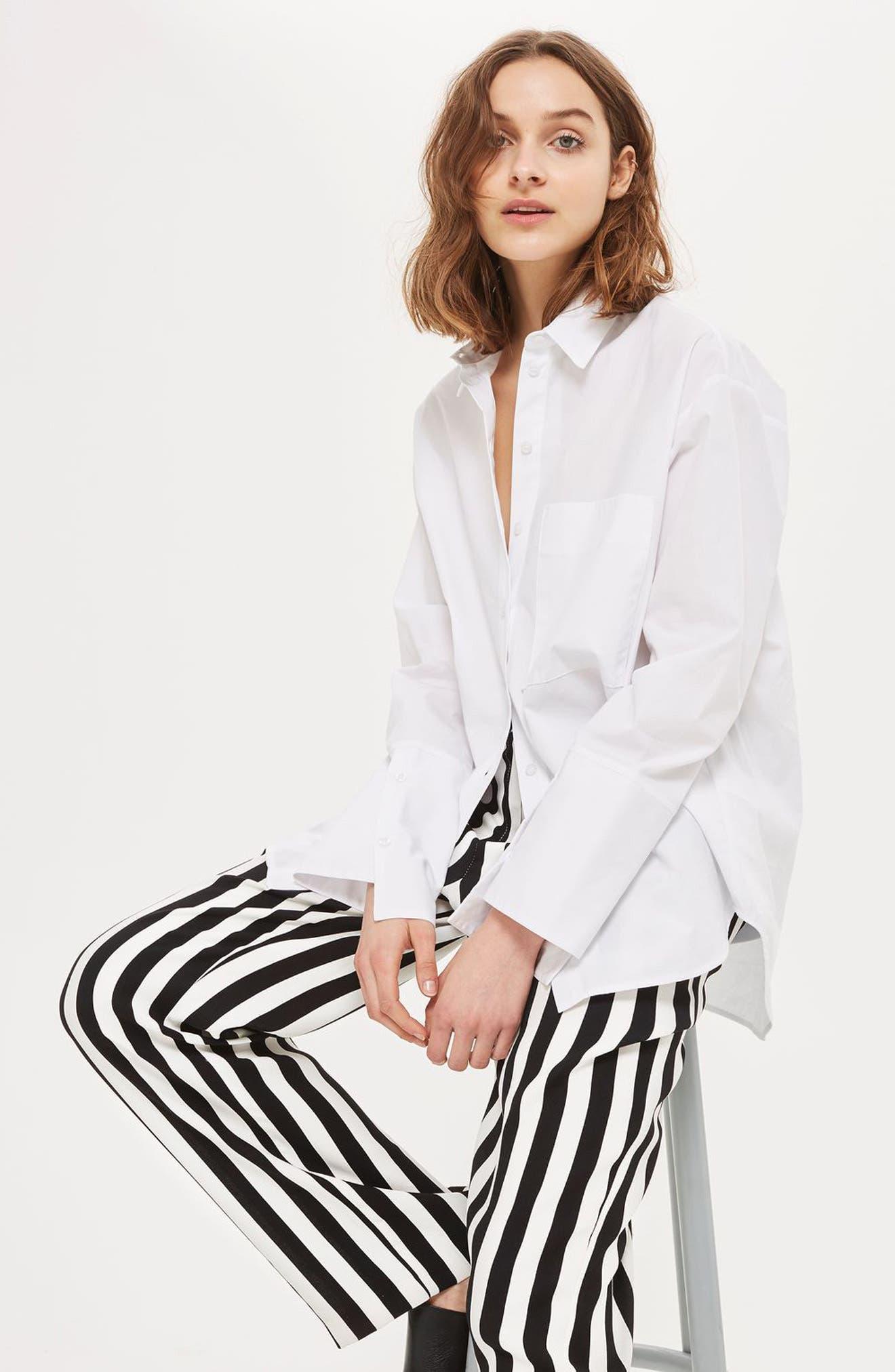 Humbug Stripe Trousers,                             Alternate thumbnail 4, color,                             001