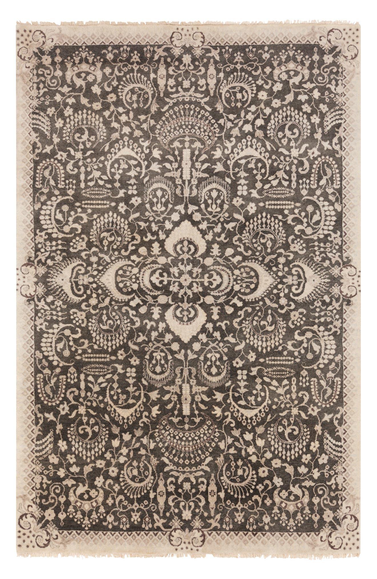 'Empress' Wool Rug,                             Alternate thumbnail 4, color,                             250