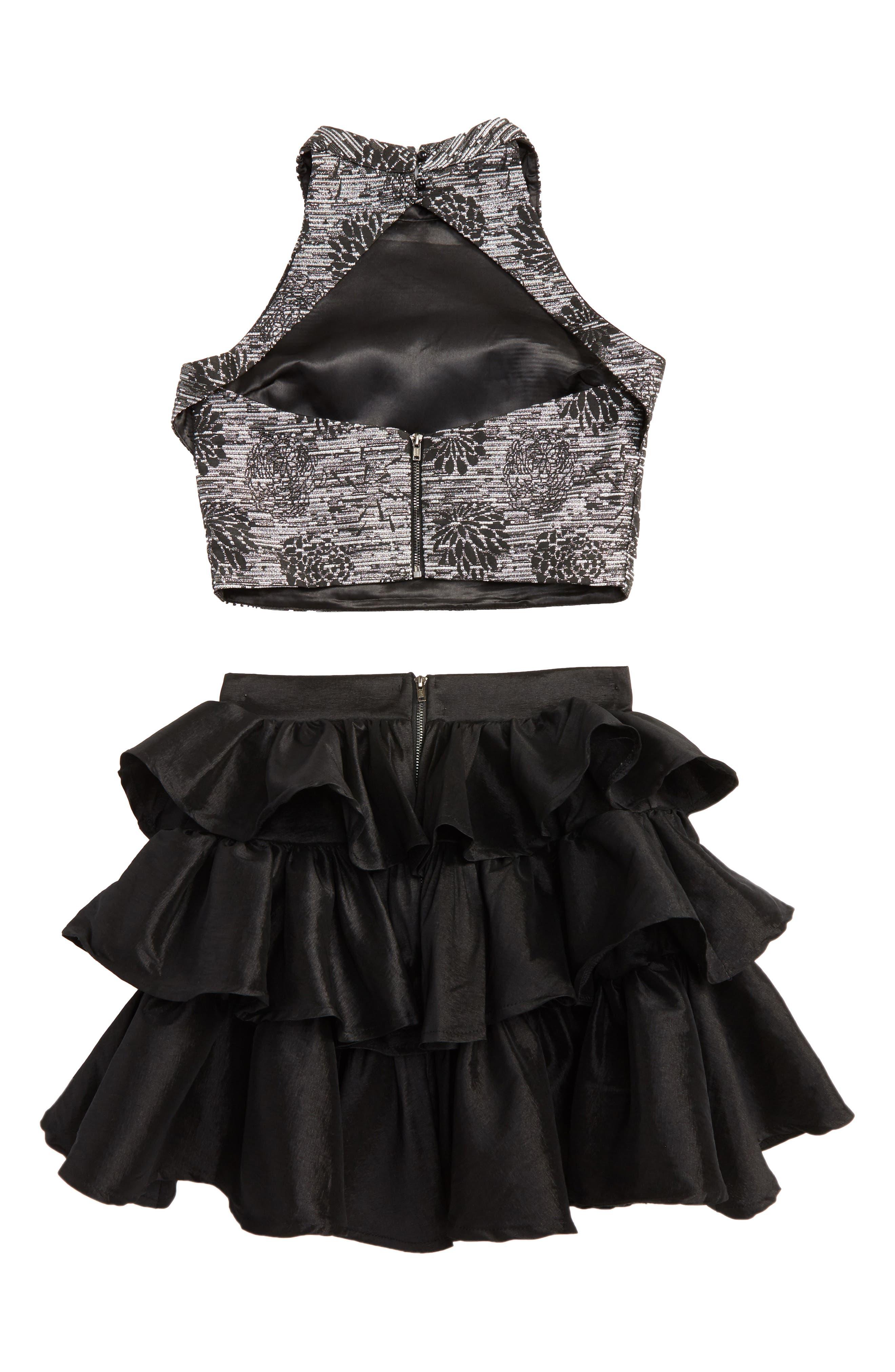 Kayla Meet & Greet Top & Skirt Set,                             Alternate thumbnail 2, color,                             001