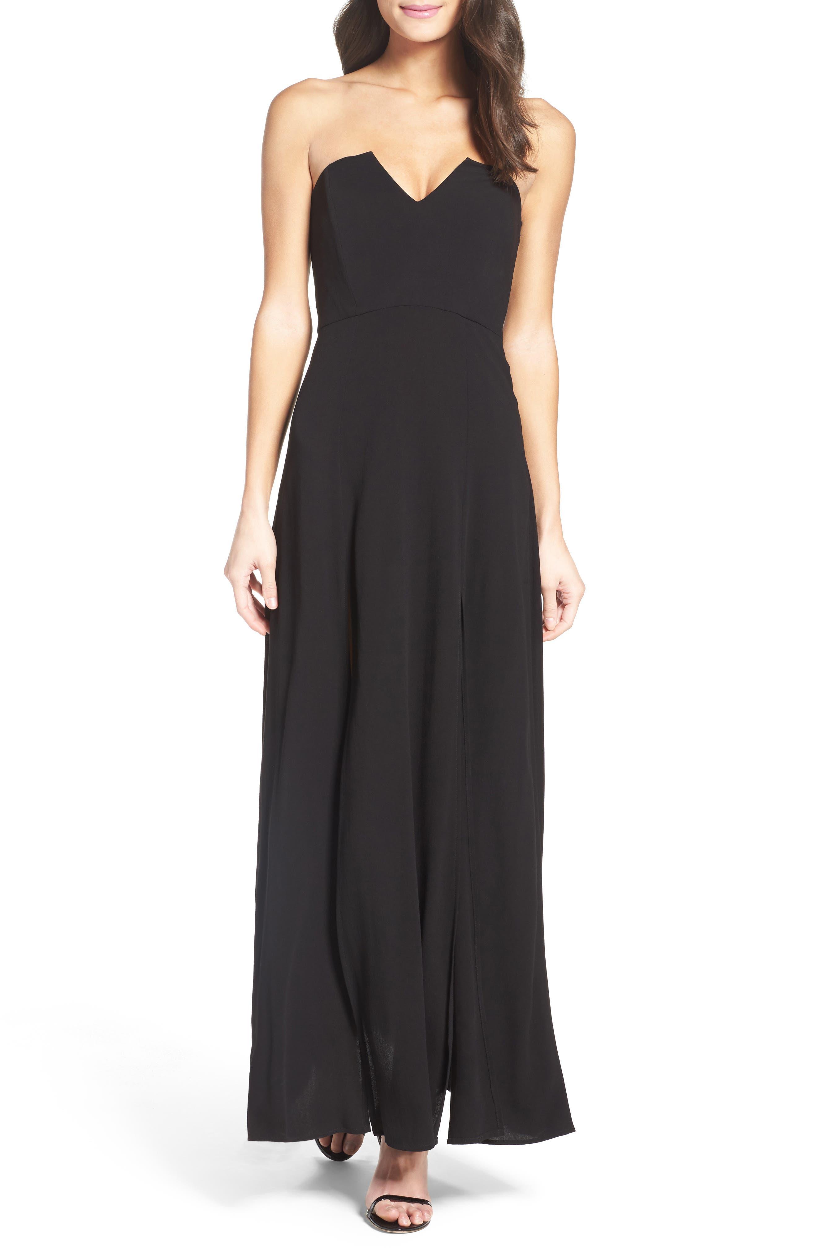 Roe + May Luca Crepe Dress,                         Main,                         color, 001