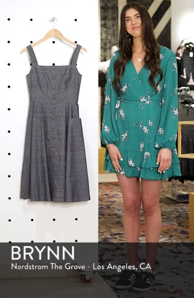 Riley Dot Chambray Fit & Flare Sundress, sales video thumbnail