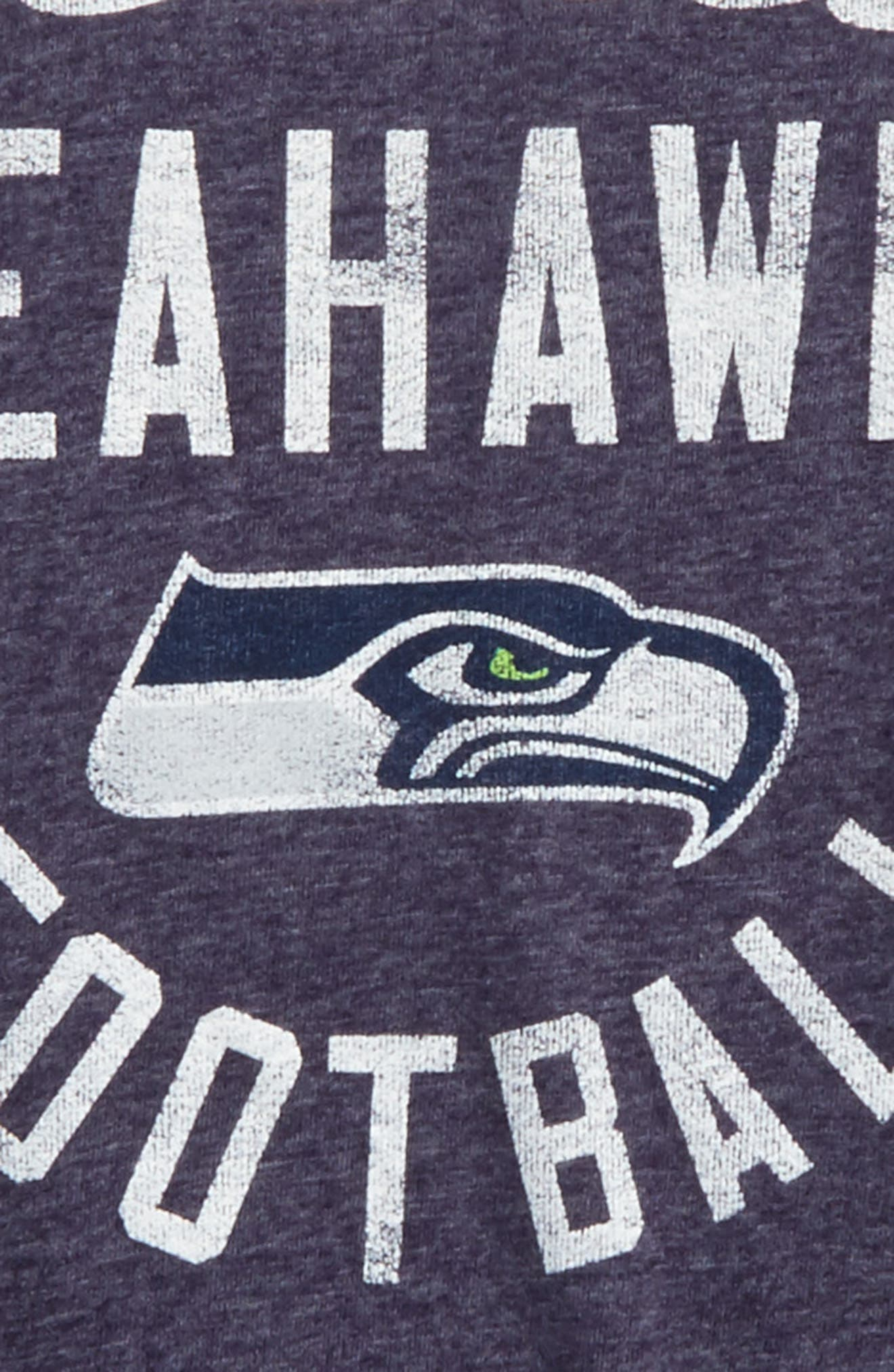NFL Seattle Seahawks Distressed Logo T-Shirt,                             Alternate thumbnail 2, color,
