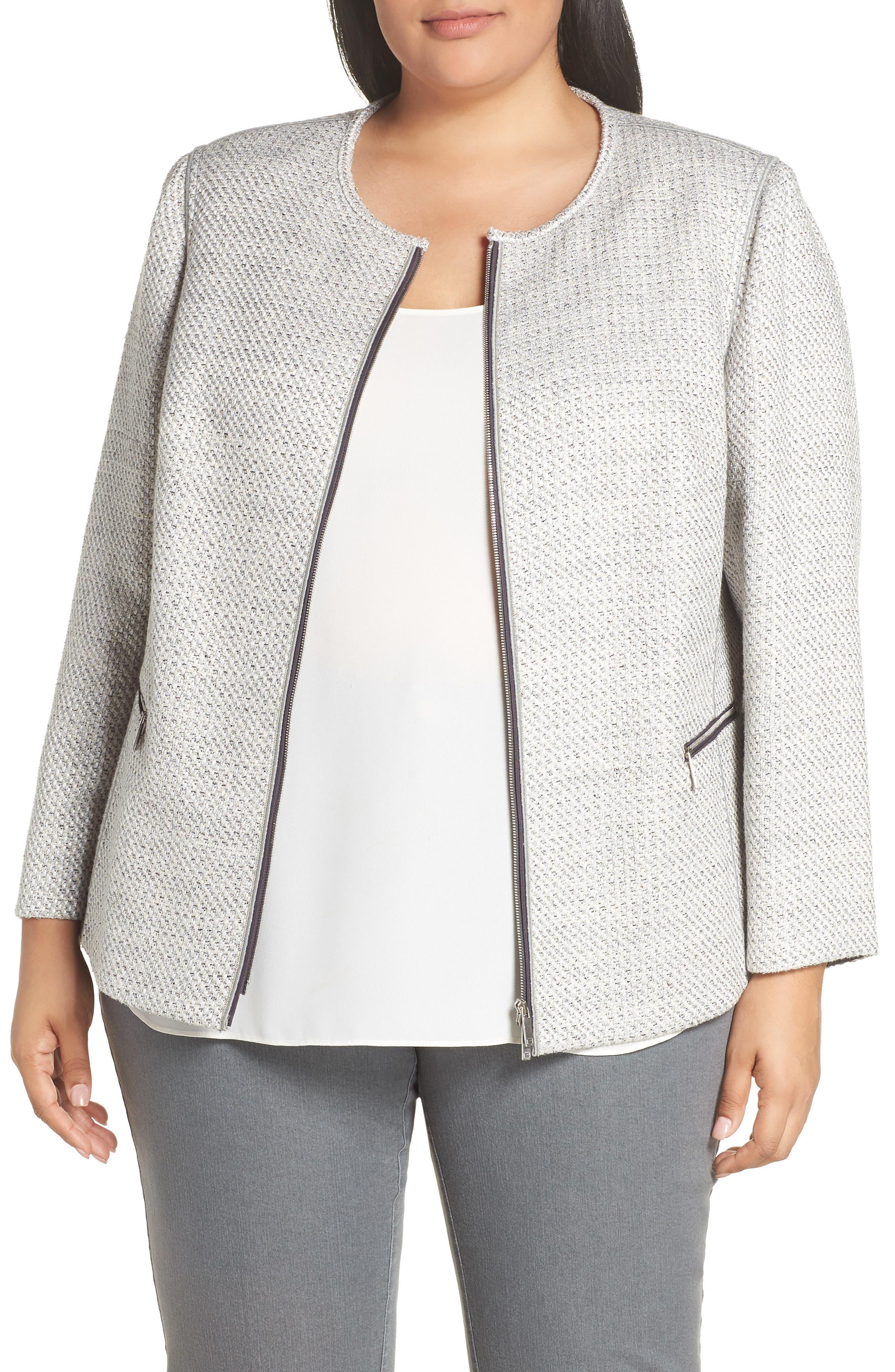 Kerrington Tweed Jacket, Main, color, RAIN MULTI