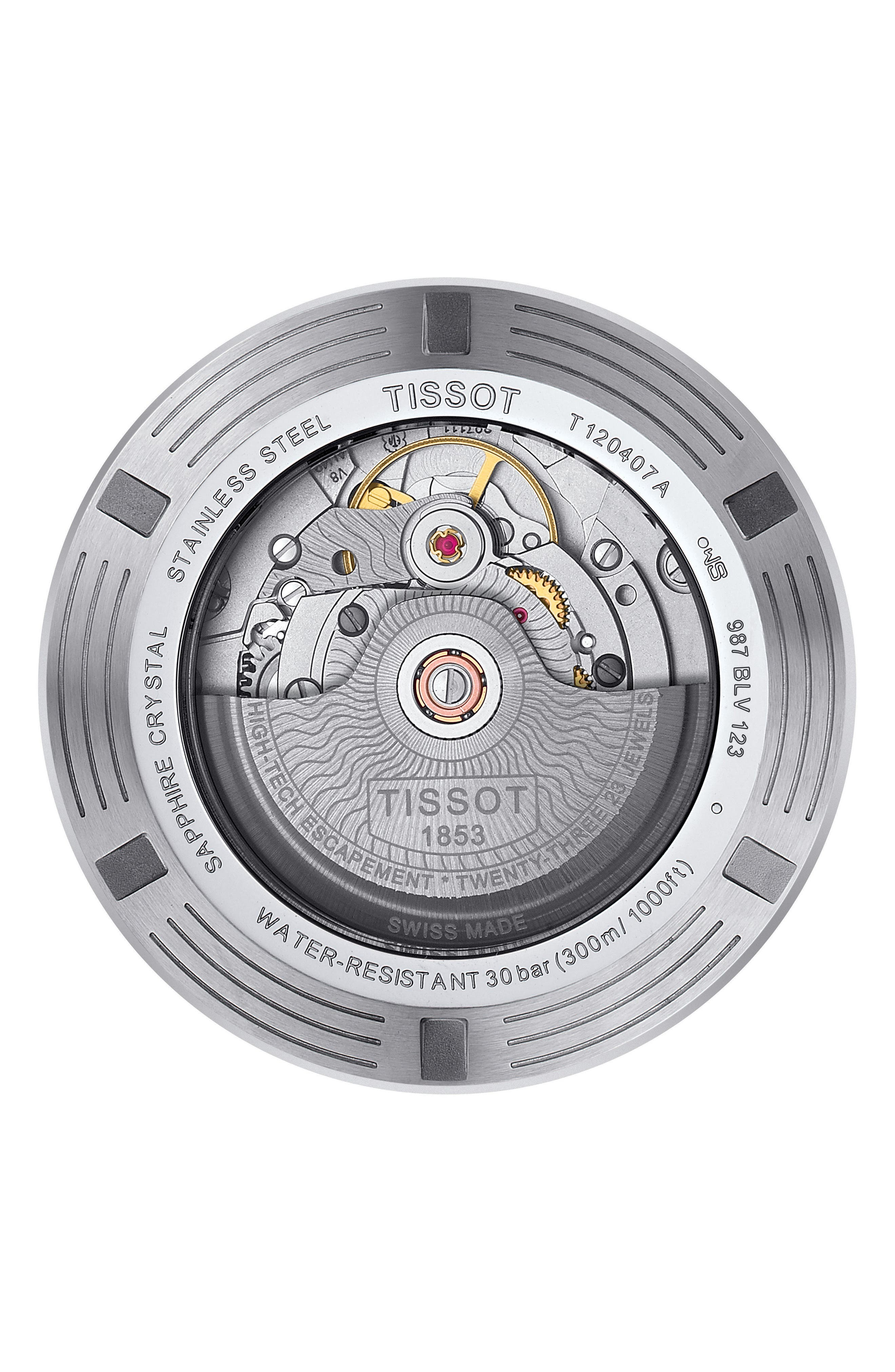 T-Sport Automatic Synthetic Strap Watch, 43mm,                             Alternate thumbnail 2, color,                             001