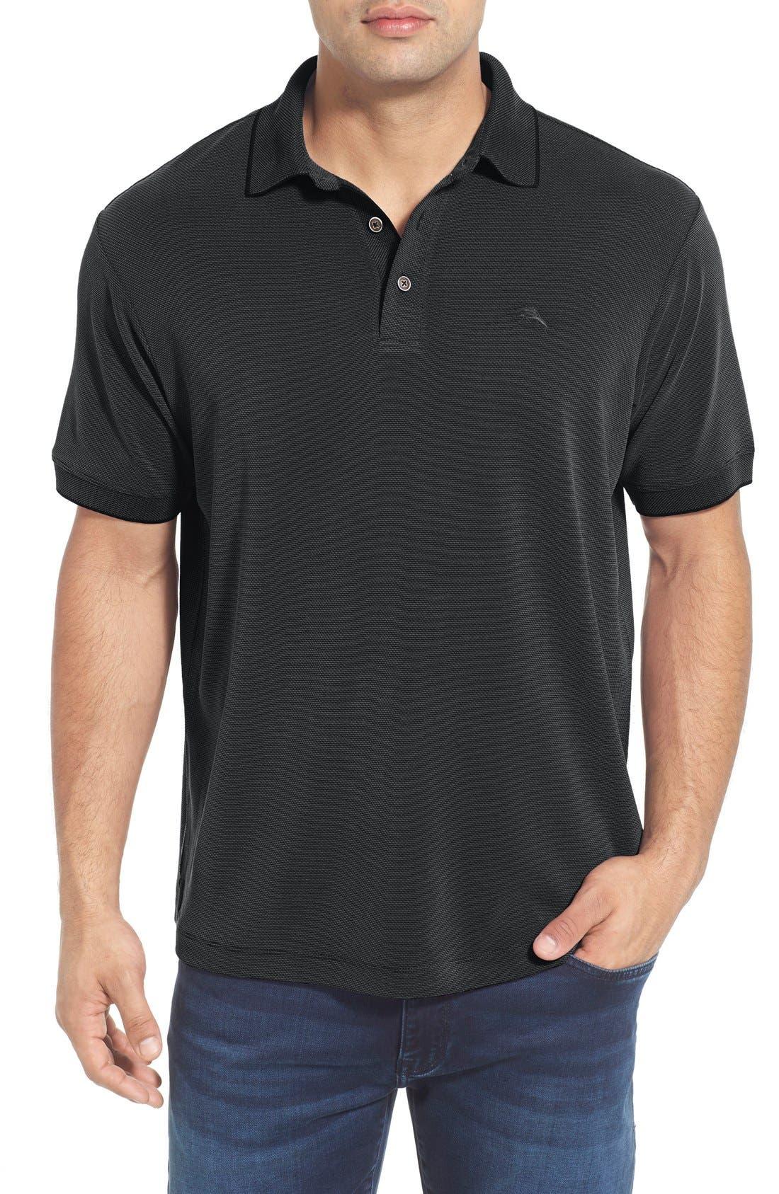 'New Pebble Shore' Short Sleeve Polo,                         Main,                         color, 001