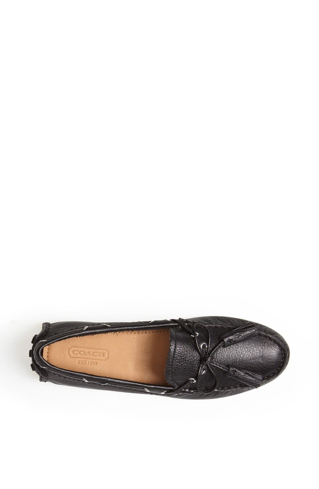'Nadia' Leather Driving Loafer,                             Alternate thumbnail 3, color,                             001