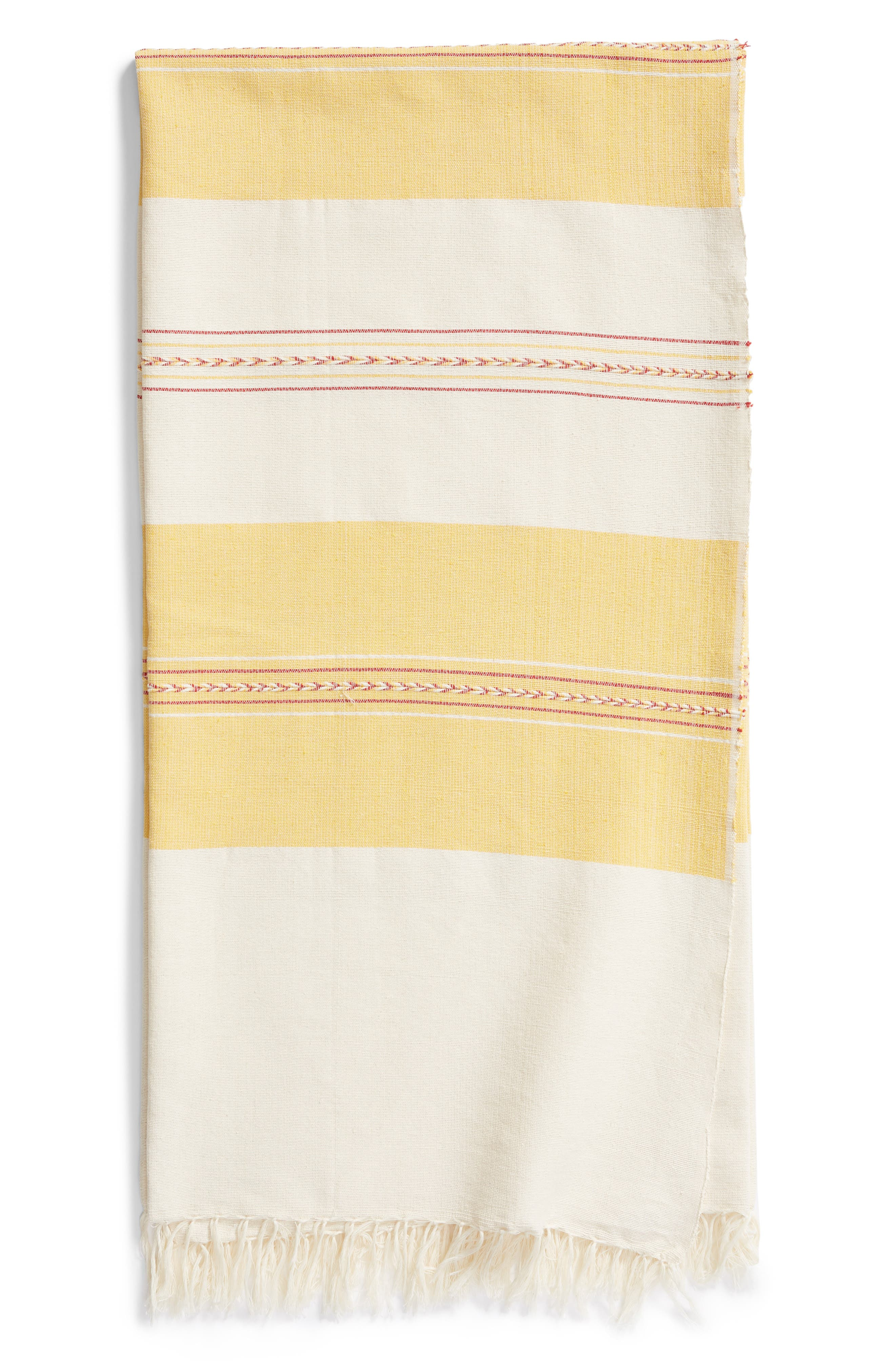 Golden Dunes Woven Cotton Blanket,                         Main,                         color, 250