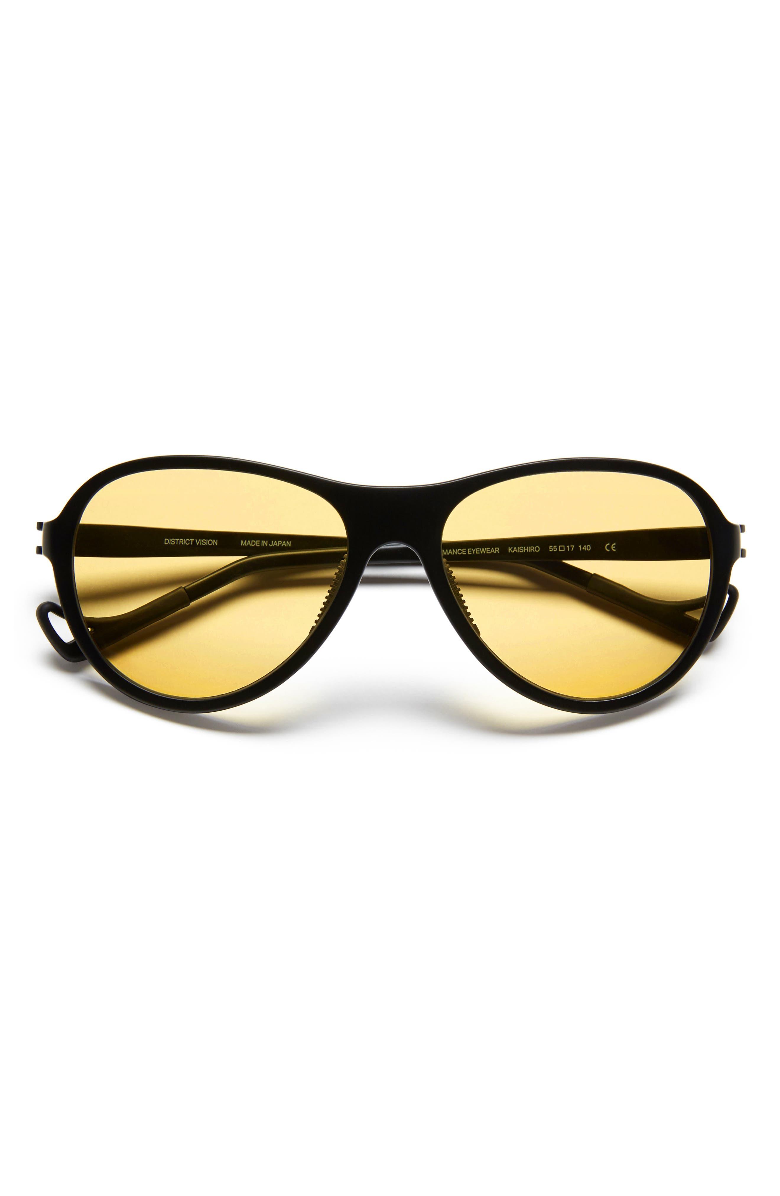 Kaishiro 51mm Sunglasses,                             Alternate thumbnail 2, color,                             BLACK/ YELLOW
