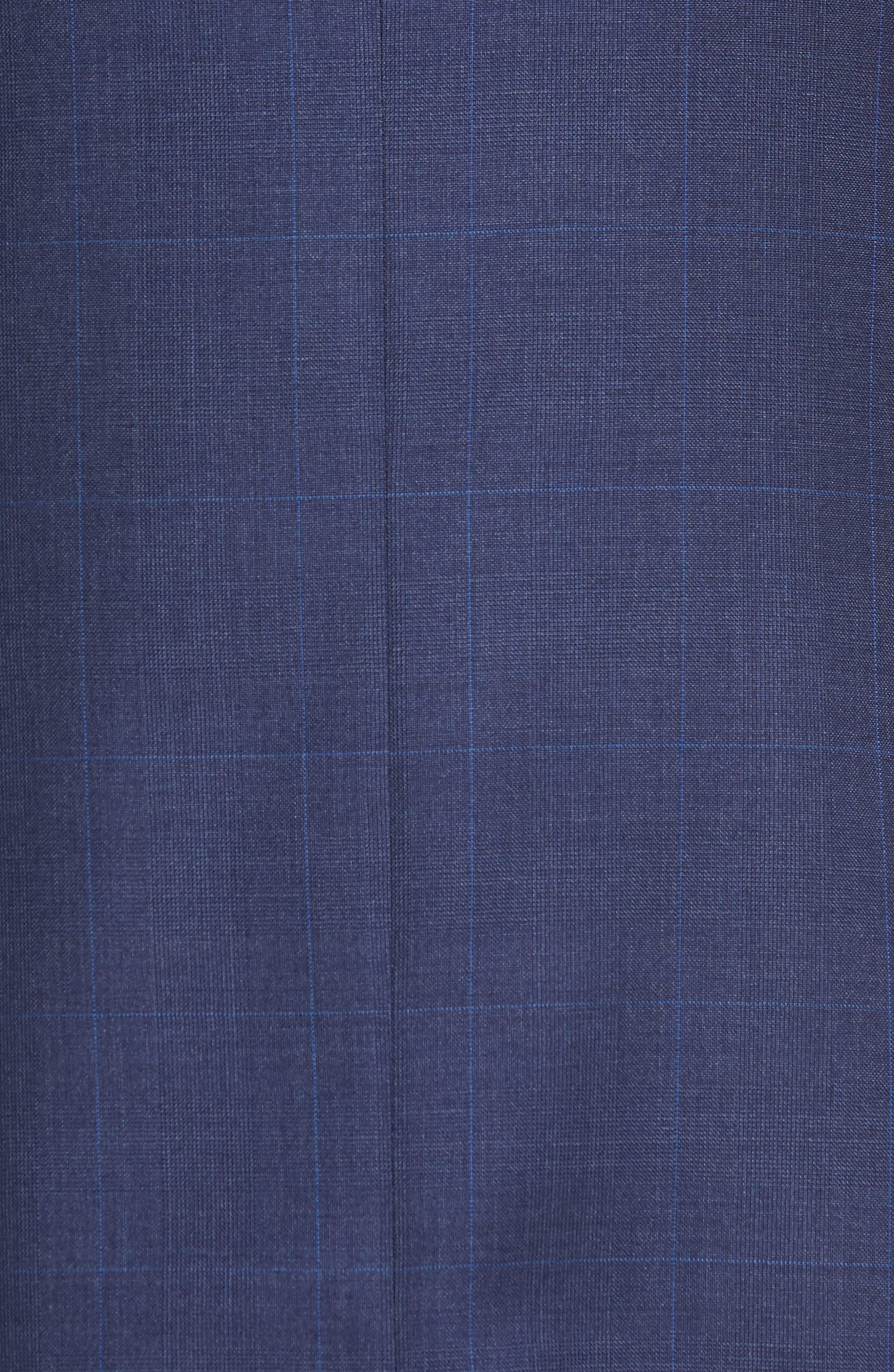 Classic Fit Plaid Wool Suit,                             Alternate thumbnail 7, color,