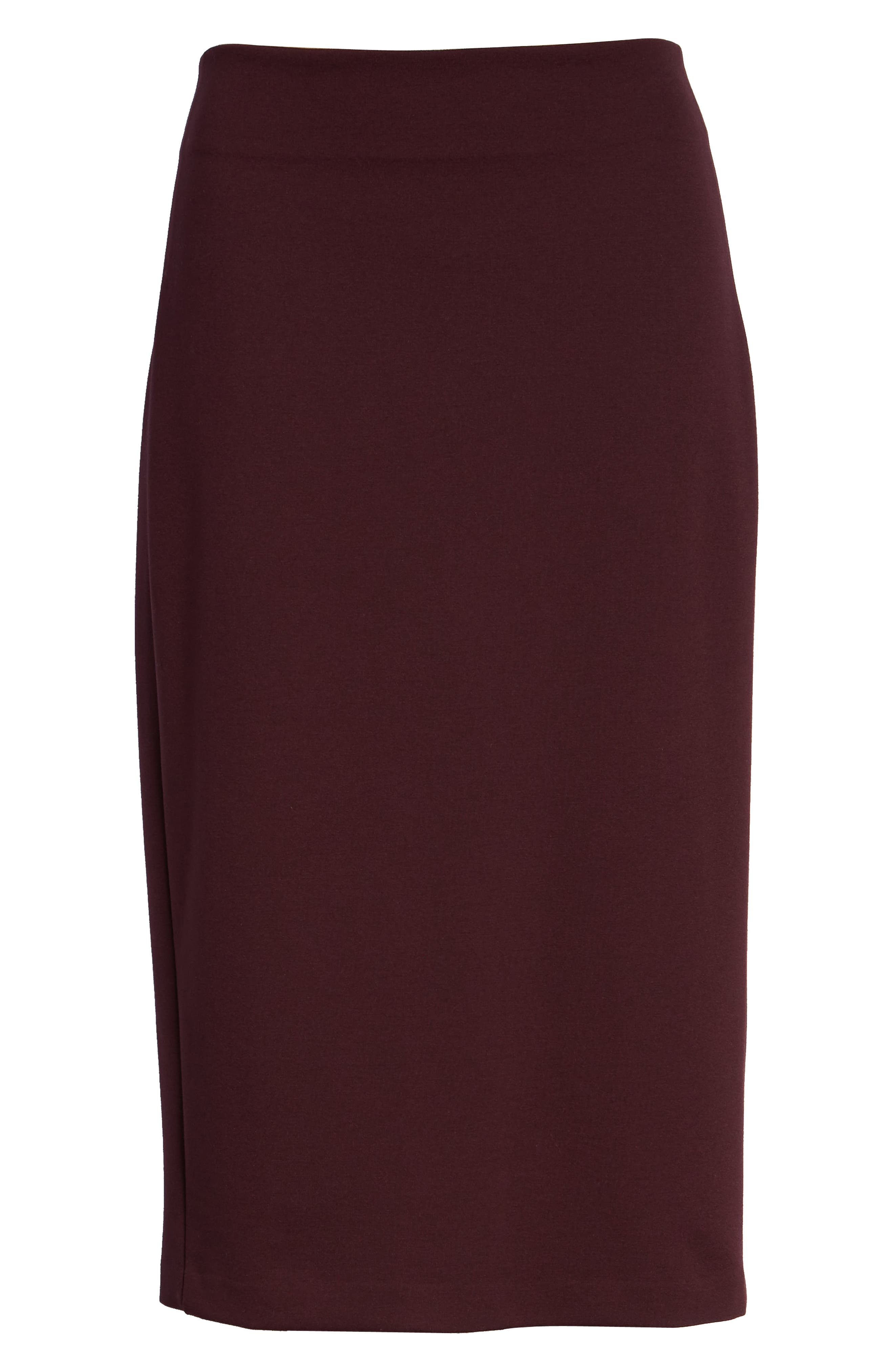 Ponte Midi Skirt,                             Alternate thumbnail 21, color,