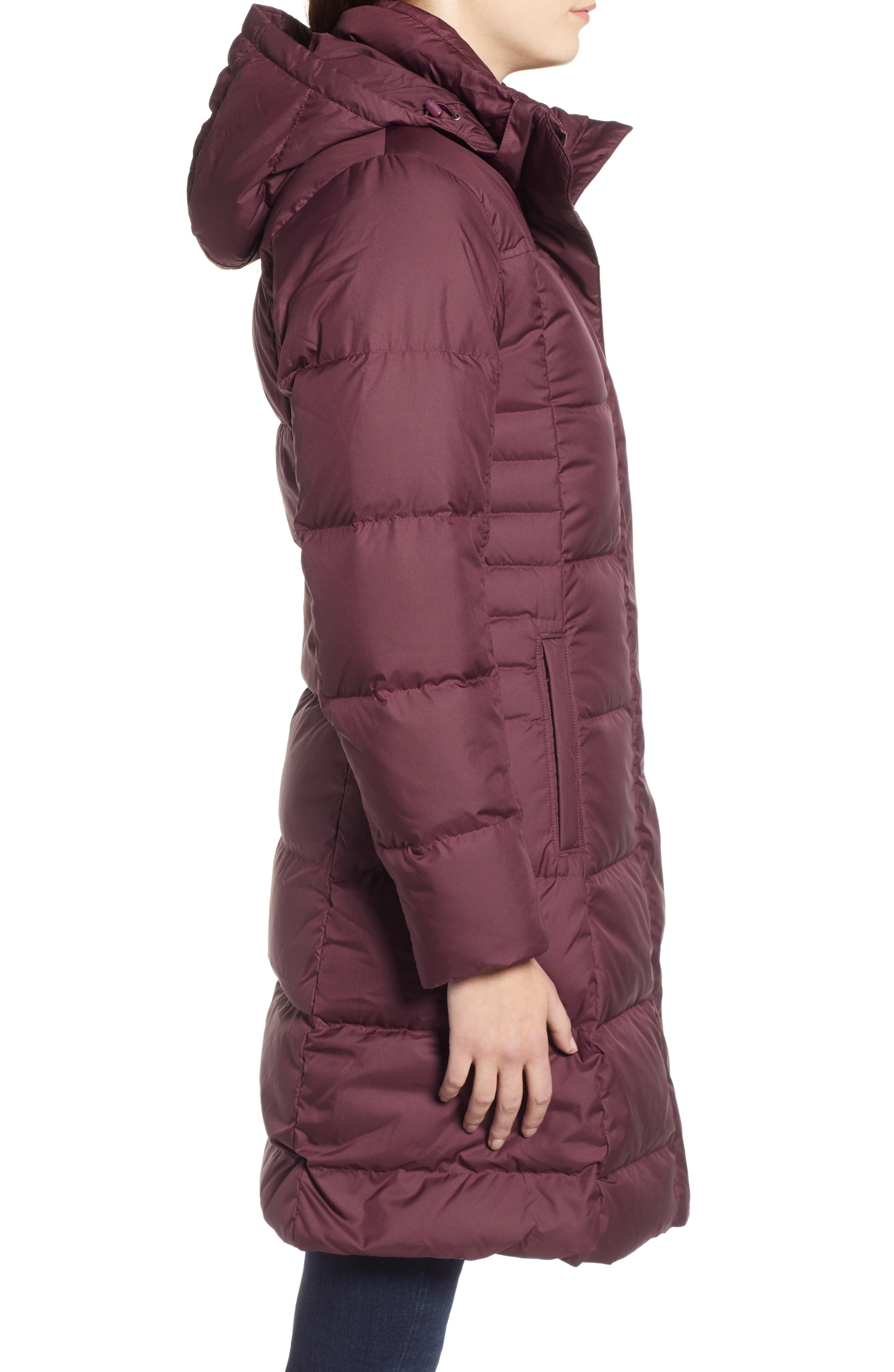 'Down with It' Water RepellentParka,                             Alternate thumbnail 3, color,                             DARK CURRANT