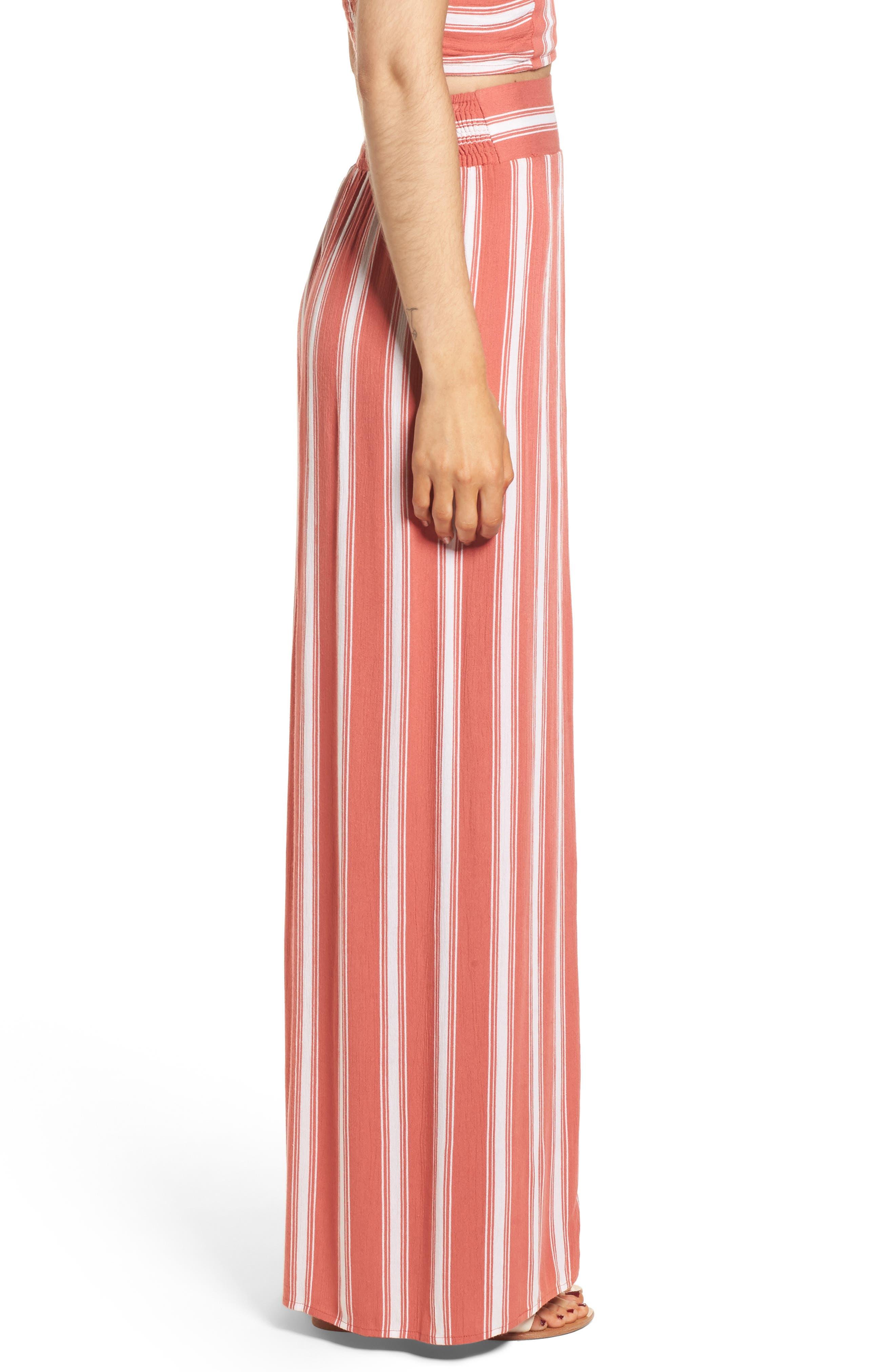 Stripe Split Leg Walkthrough Pants,                             Alternate thumbnail 3, color,                             950