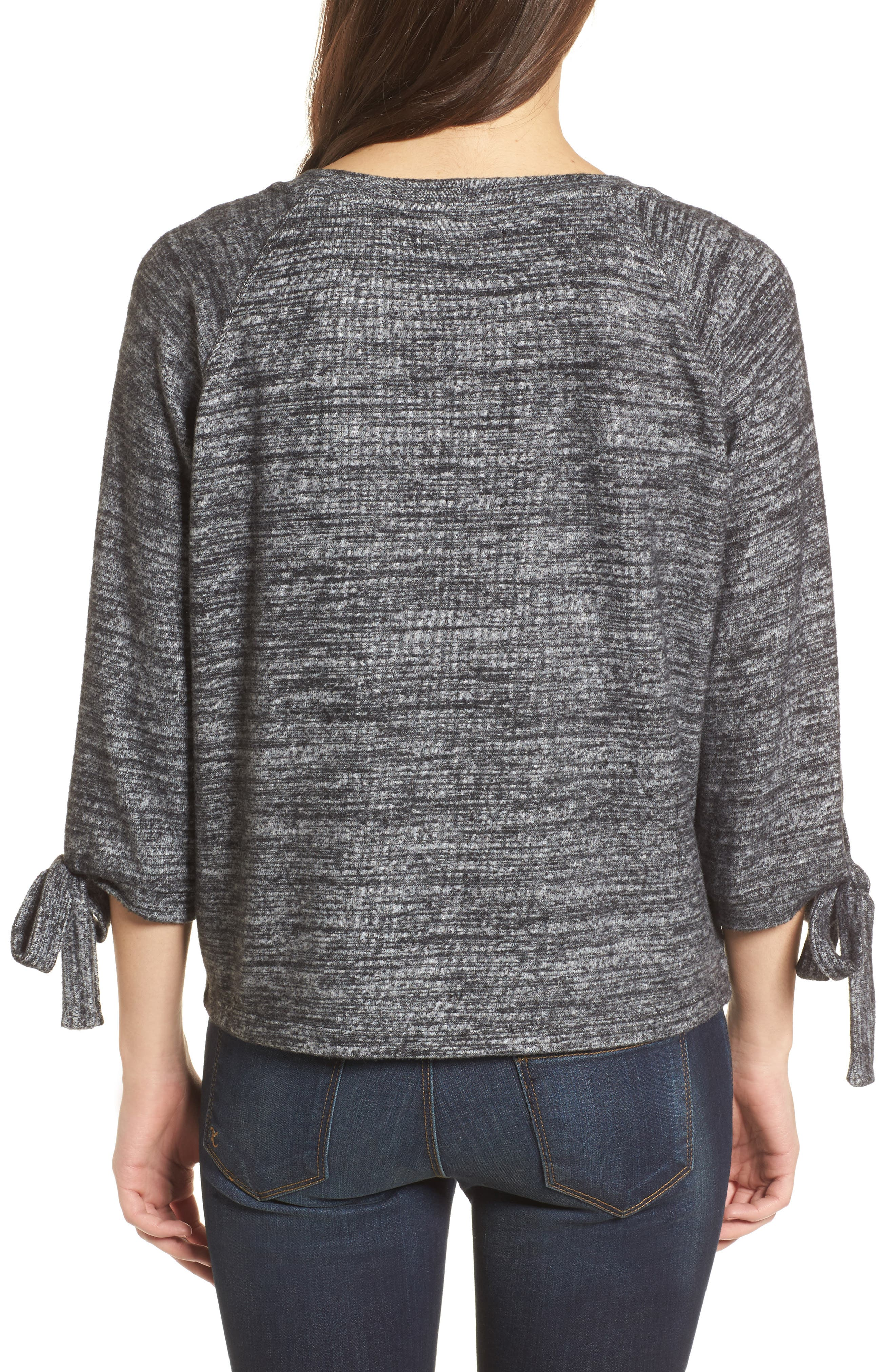 Tie Sleeve Jersey Top,                             Alternate thumbnail 2, color,                             066