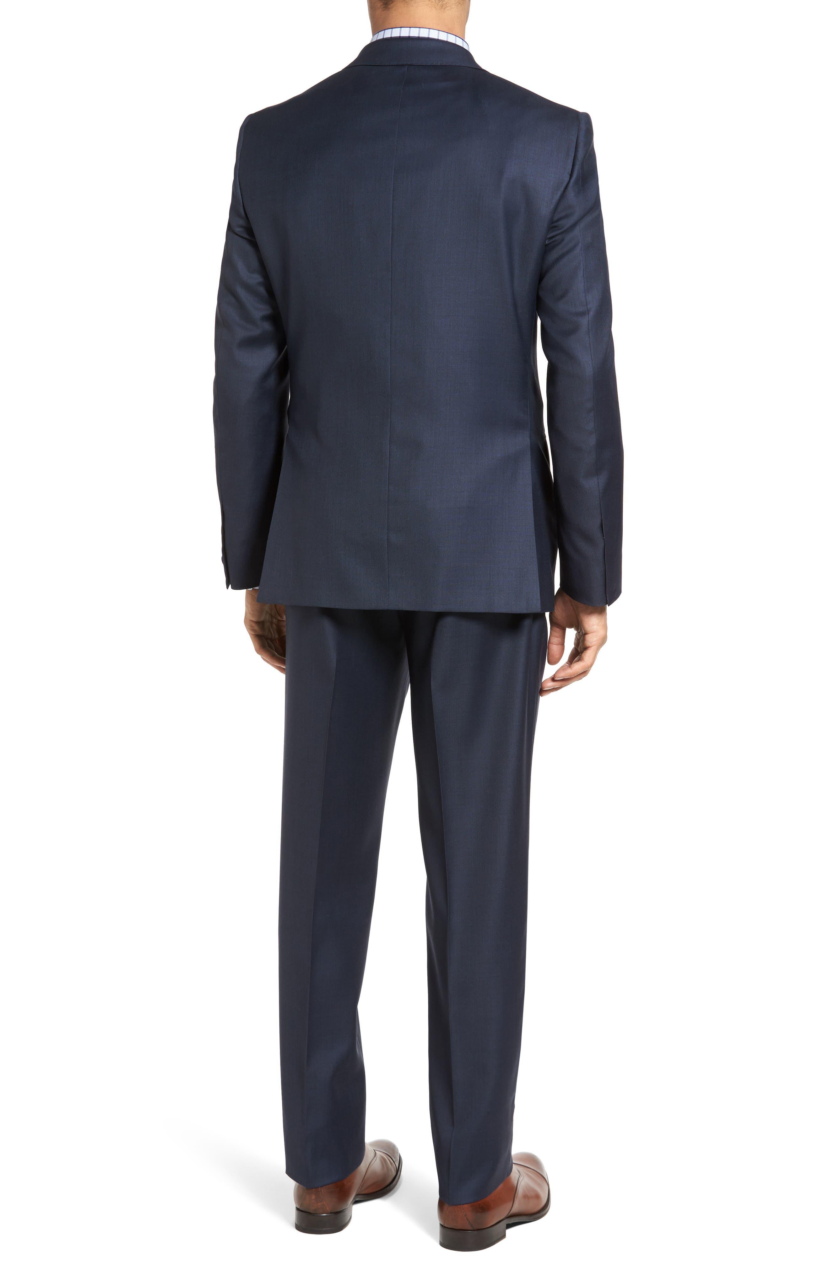 Classic Fit Sharkskin Wool Suit,                             Alternate thumbnail 2, color,                             410