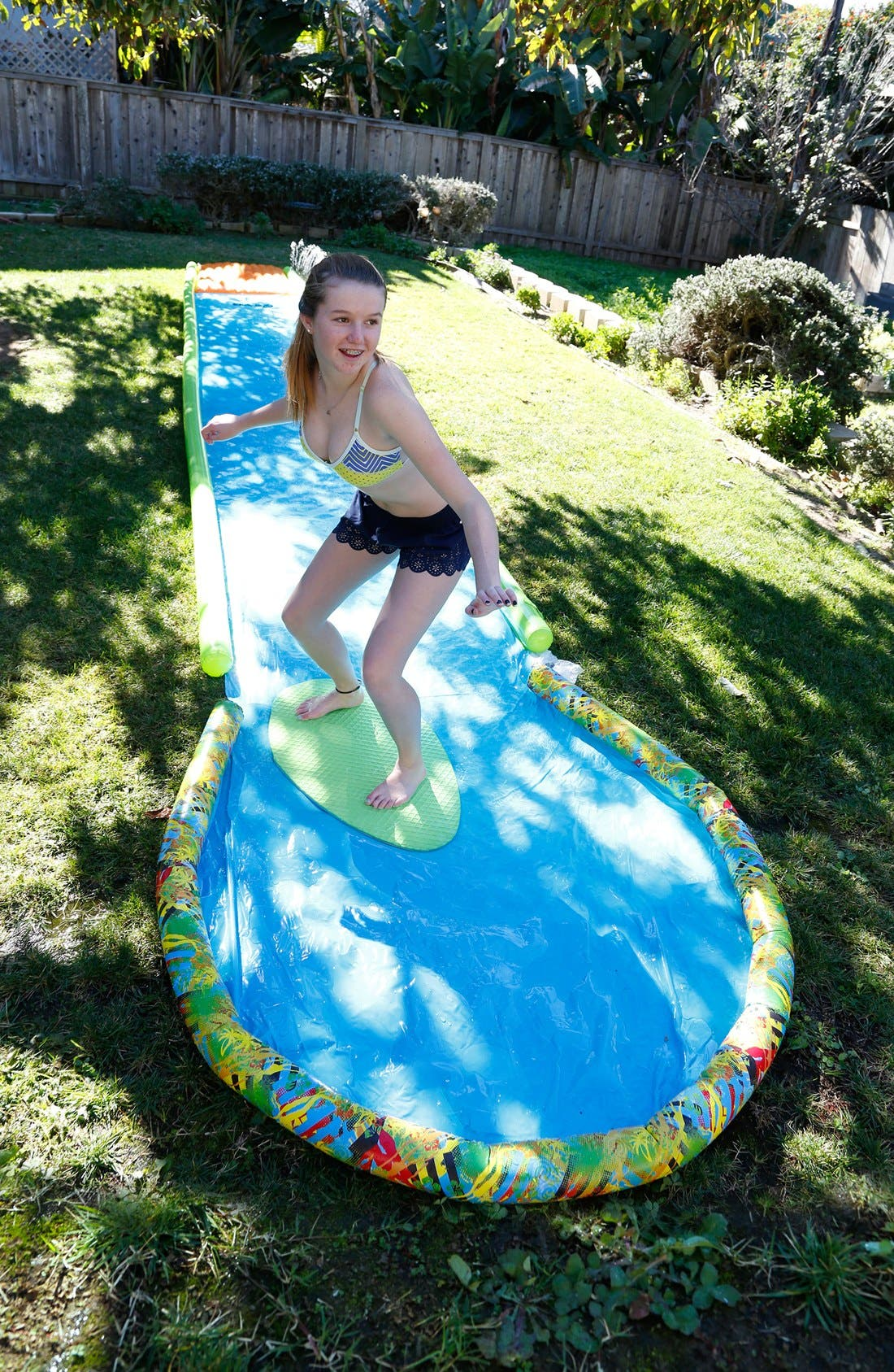 'Slackers Slide & Surf - Screamin' 30-Inch Wooden Skimboard,                             Alternate thumbnail 2, color,                             GREEN