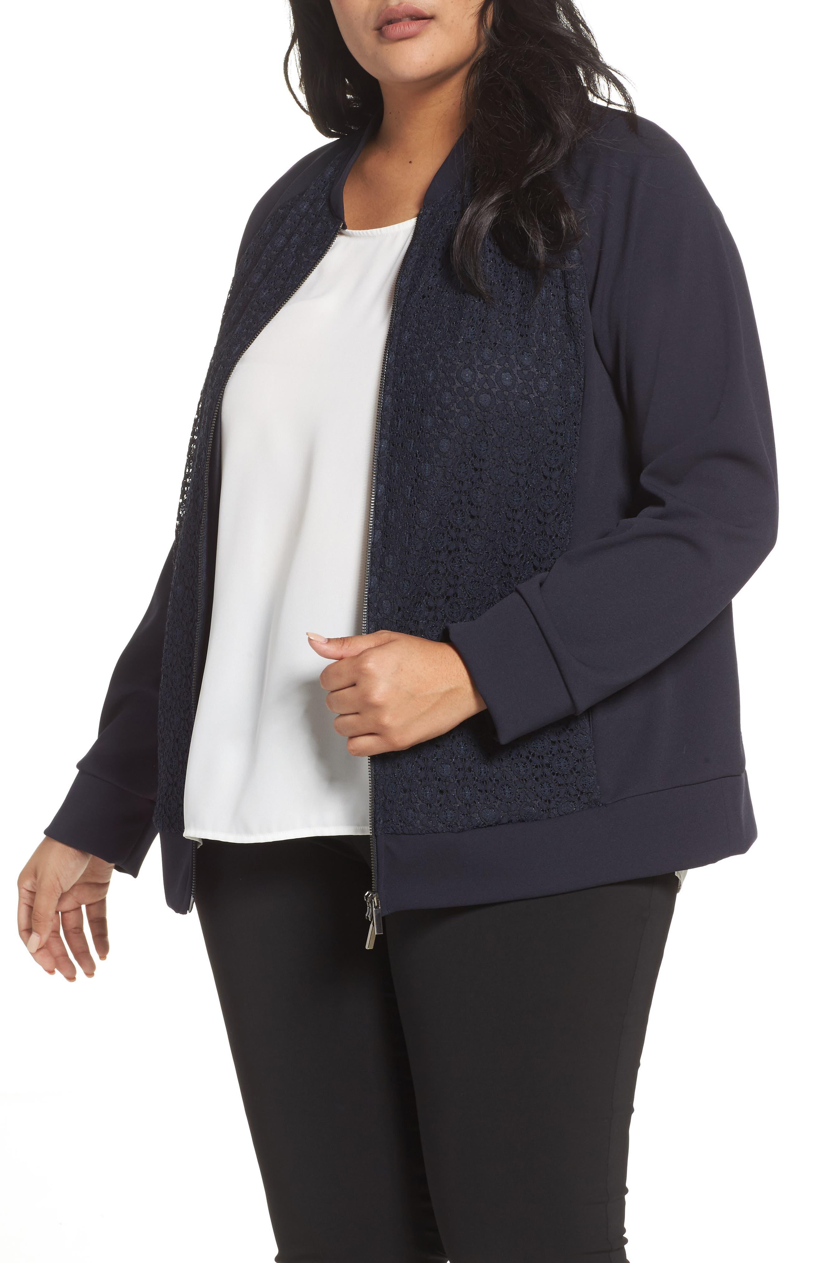 Okay Lace Panel Jacket,                         Main,                         color, 411