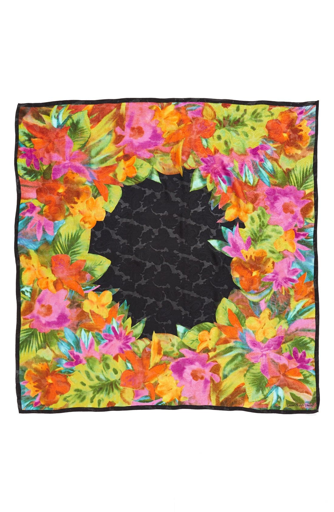 Silk Square Scarf,                             Alternate thumbnail 2, color,                             001