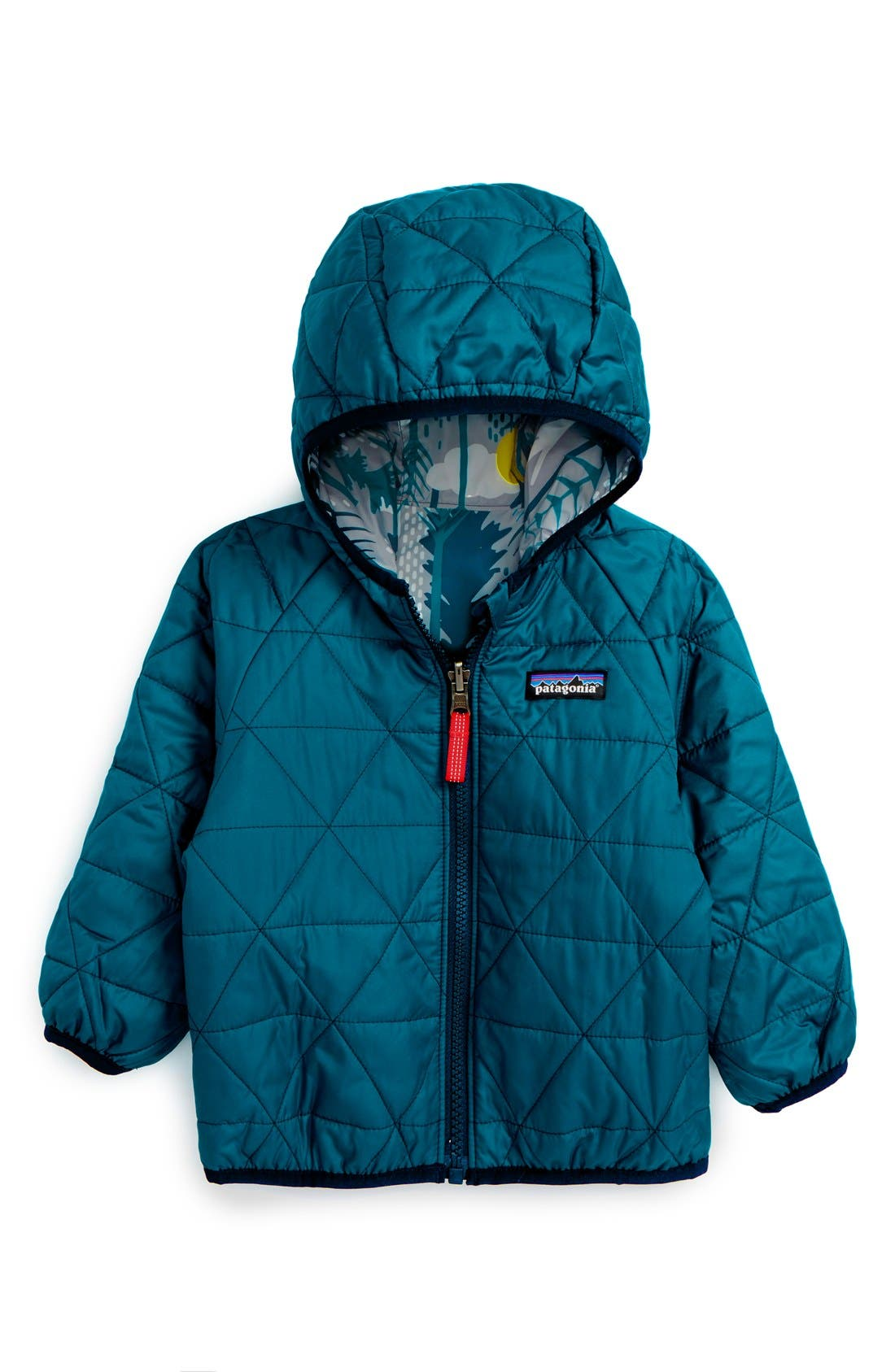 Puff-Ball Water Resistant Reversible Jacket,                             Alternate thumbnail 8, color,