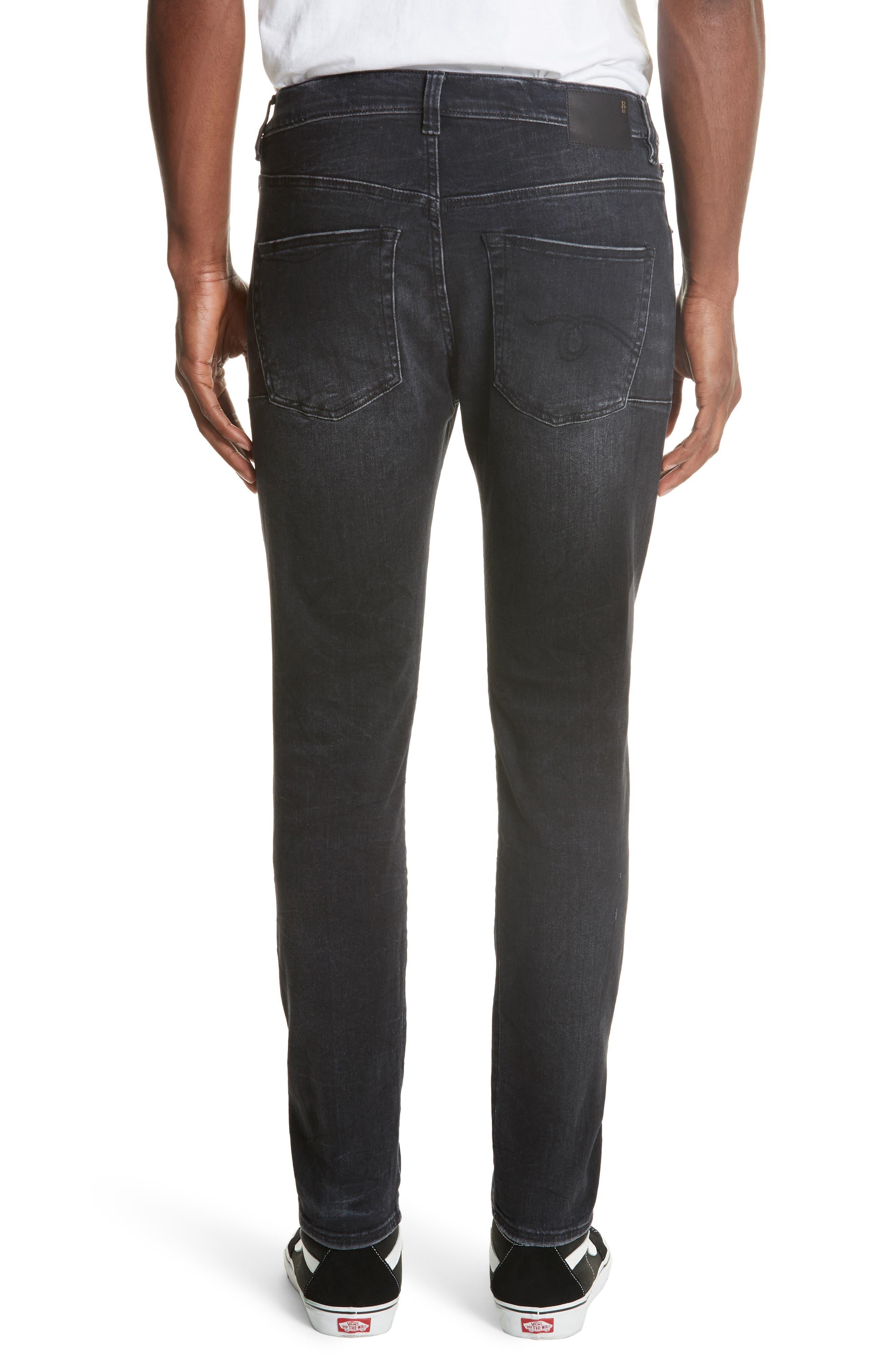 Skate Jeans,                             Alternate thumbnail 2, color,                             BLACK MARBLE