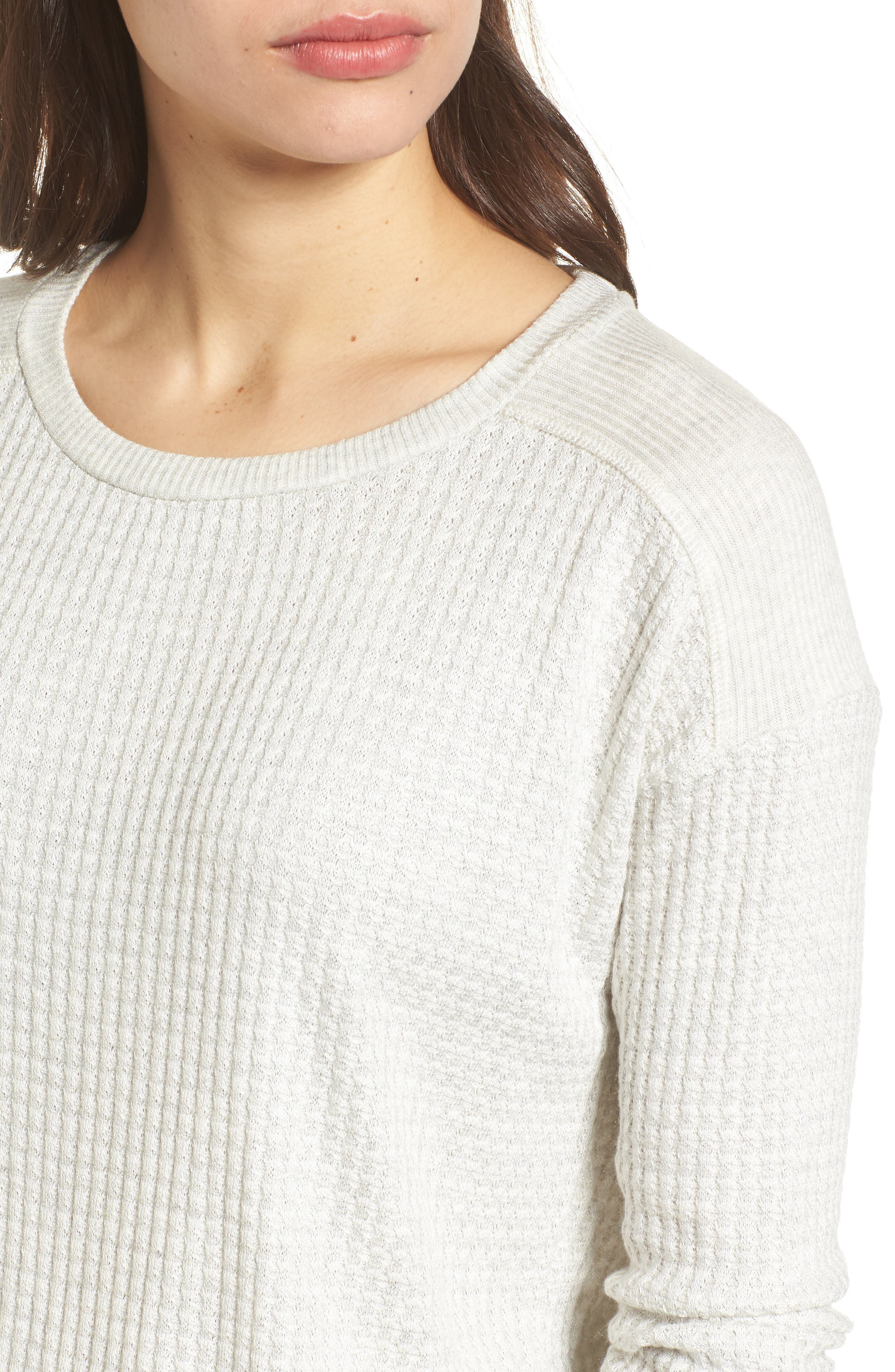 Thermal Knit Top,                             Alternate thumbnail 4, color,