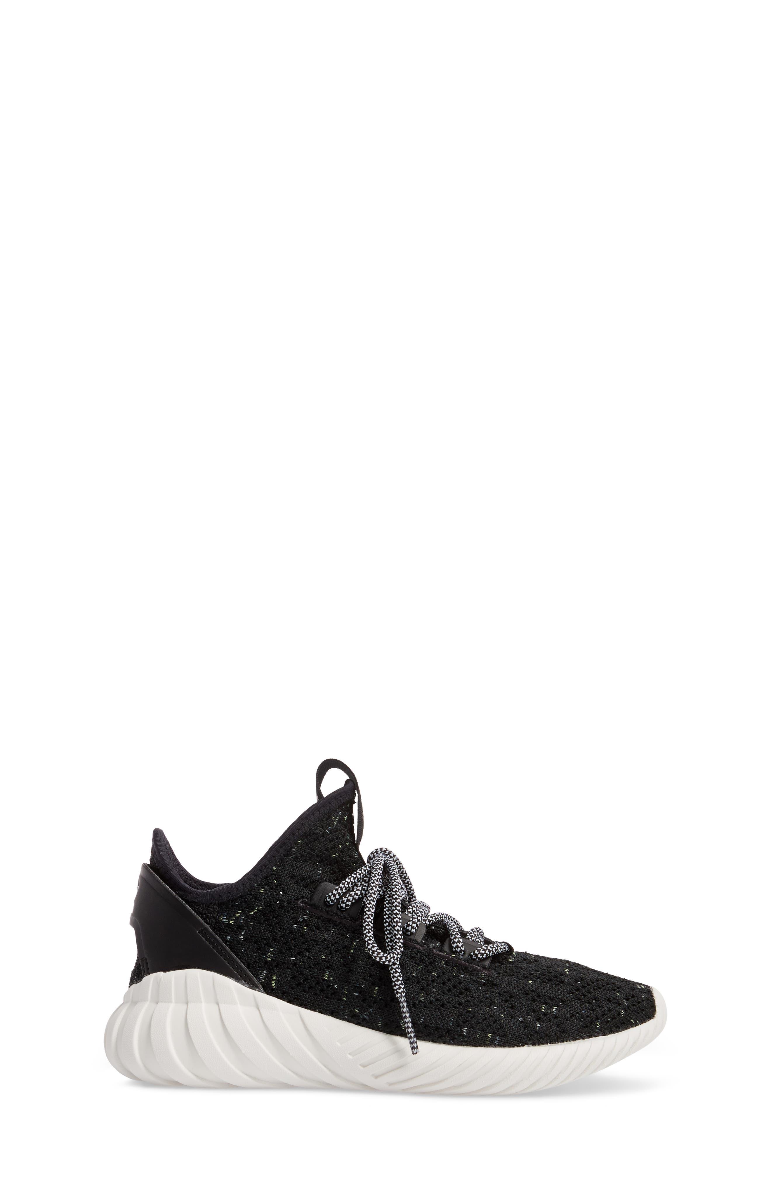 Tubular Doom Sock Primeknit Sneaker,                             Alternate thumbnail 3, color,                             001