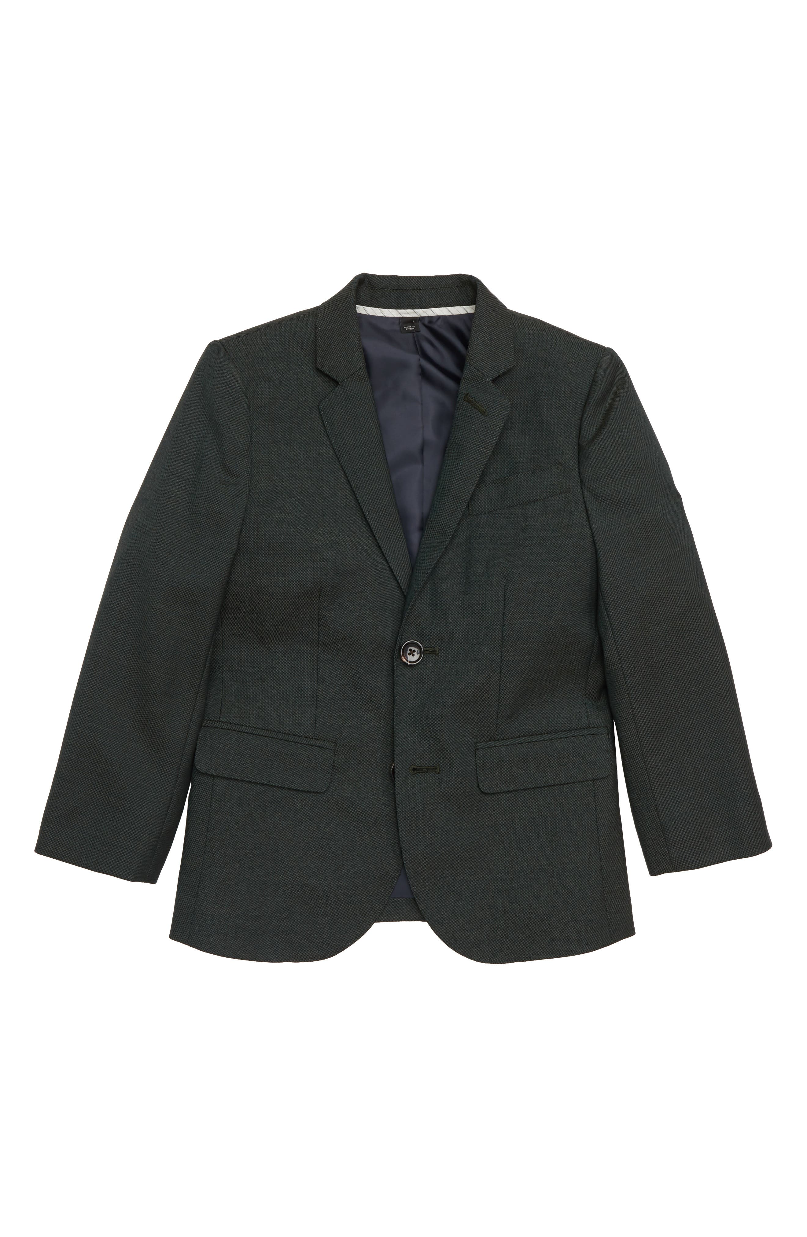 Ludlow Stretch Wool Suit Jacket,                             Main thumbnail 1, color,                             DARK GREEN