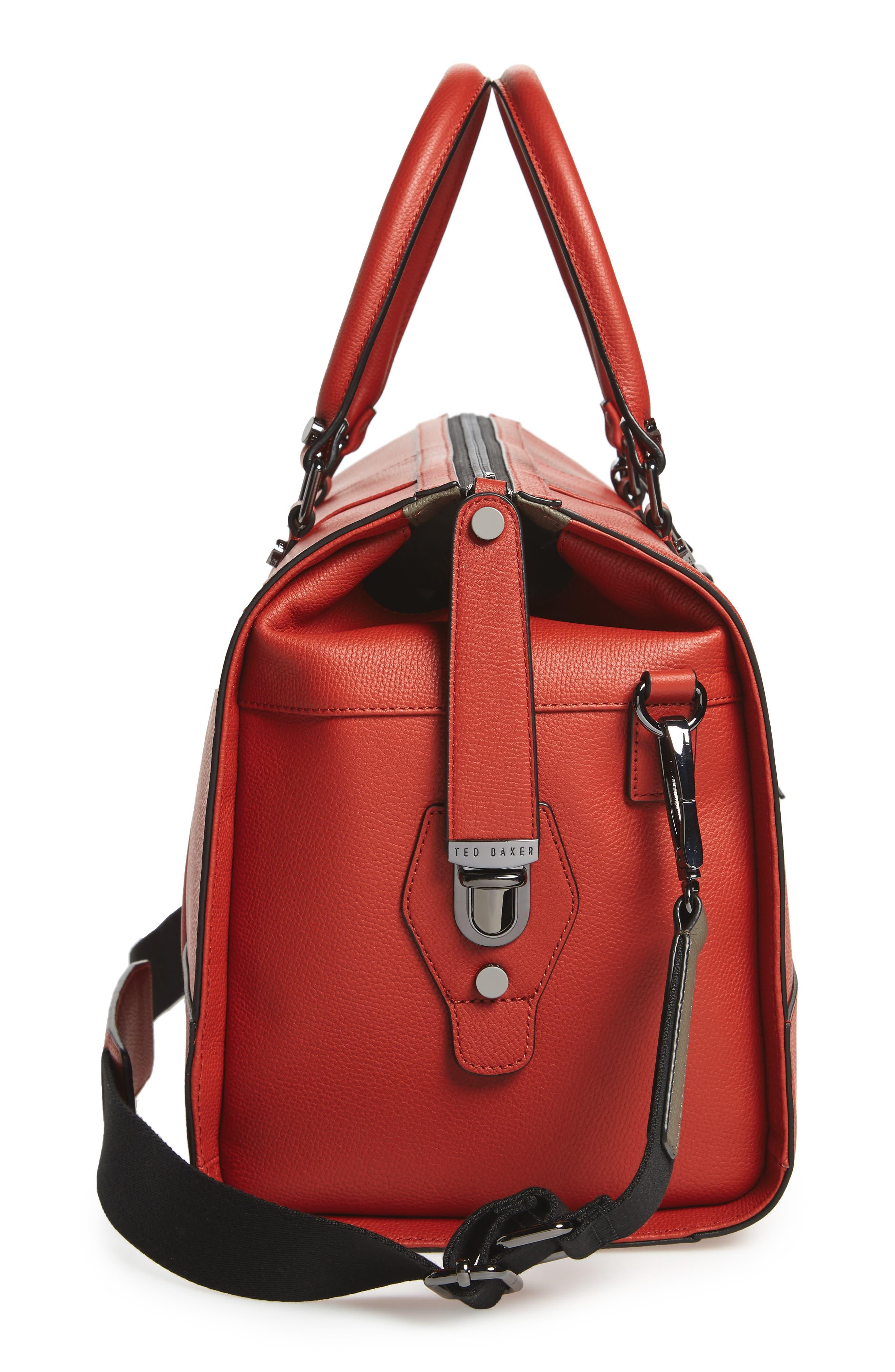 Leather Duffel Bag,                             Alternate thumbnail 15, color,