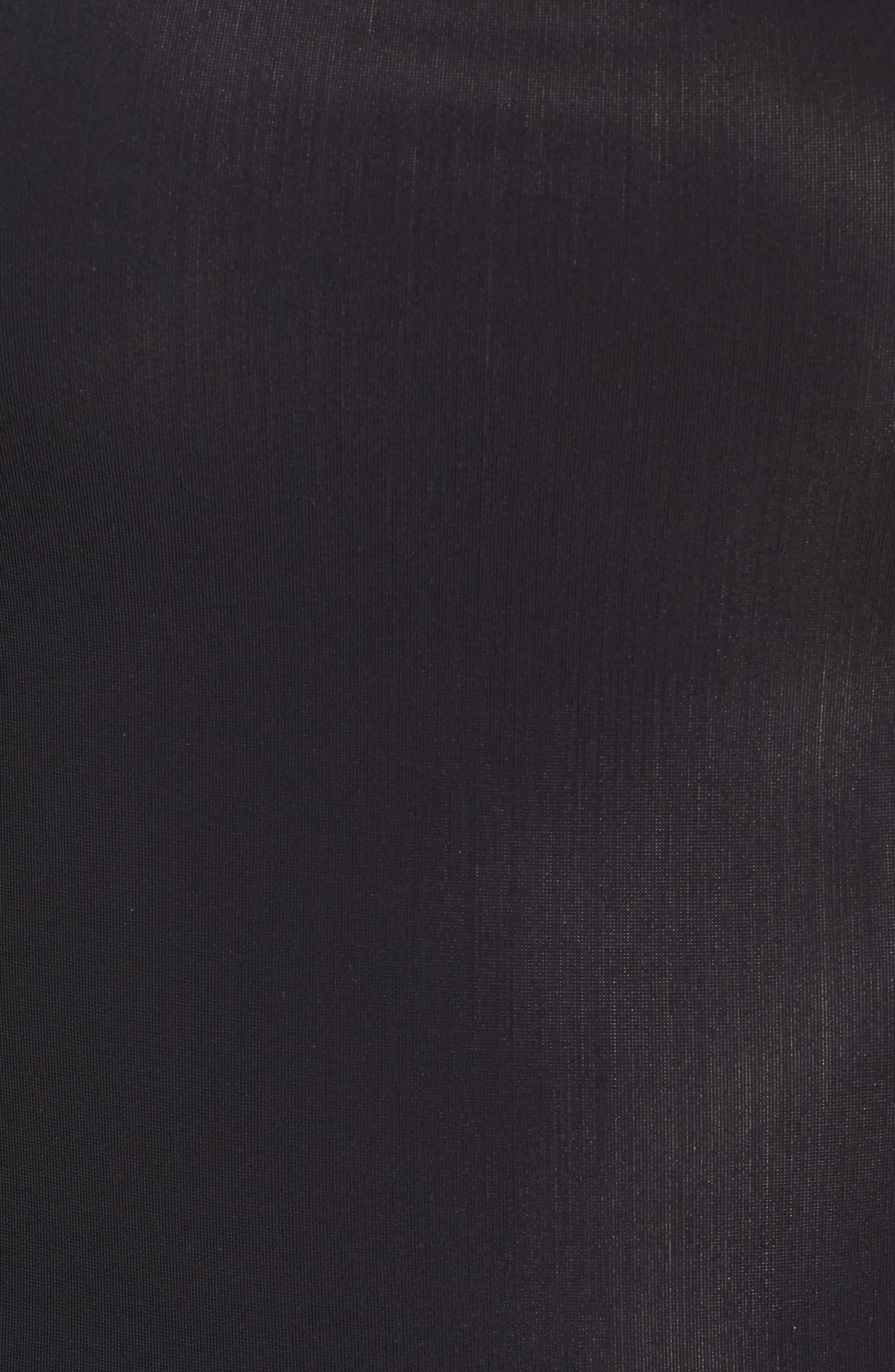 The Mesh T Thong Bodysuit,                             Alternate thumbnail 5, color,                             001