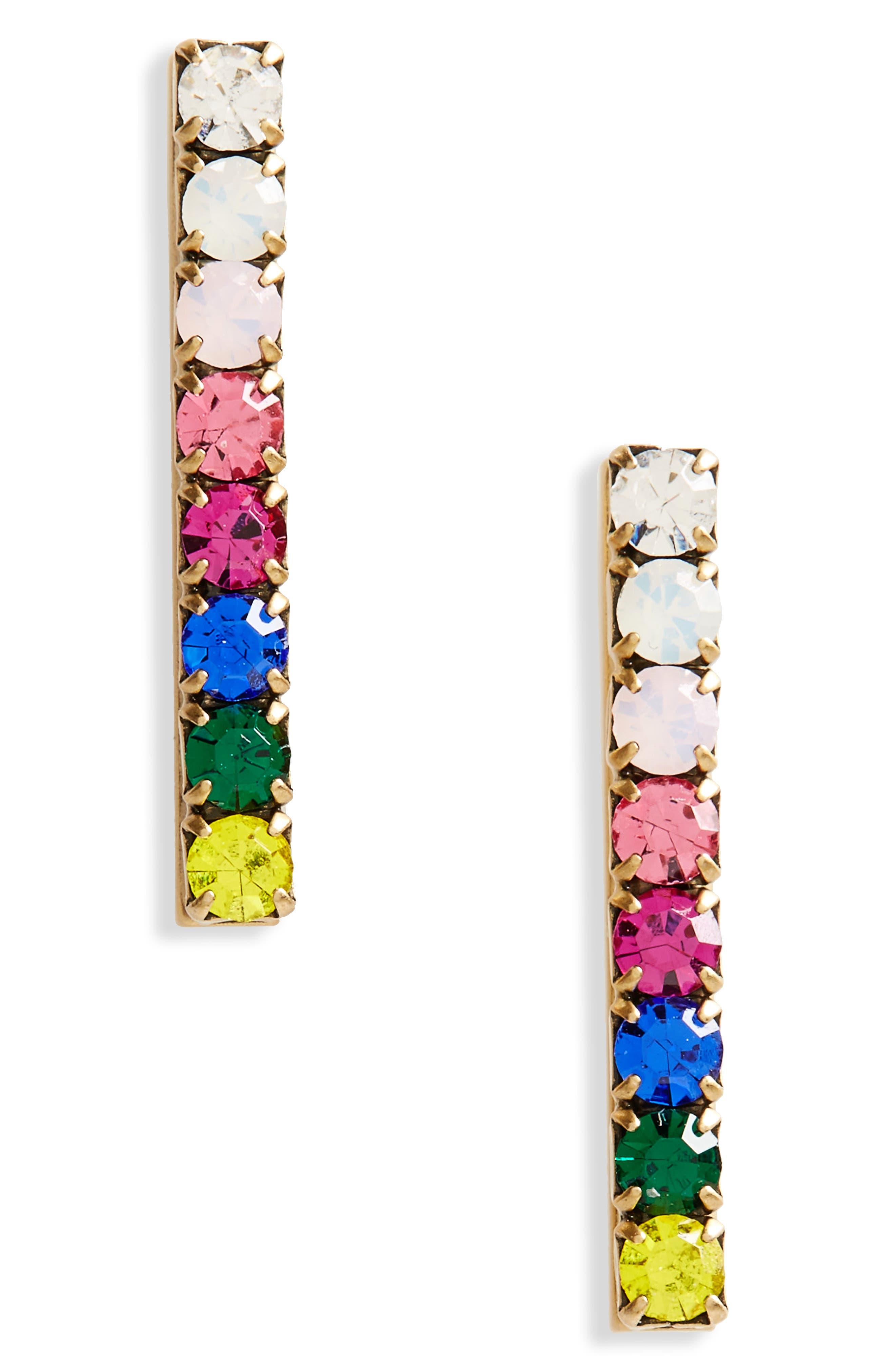 Paige Bar Stud Earrings,                             Main thumbnail 6, color,