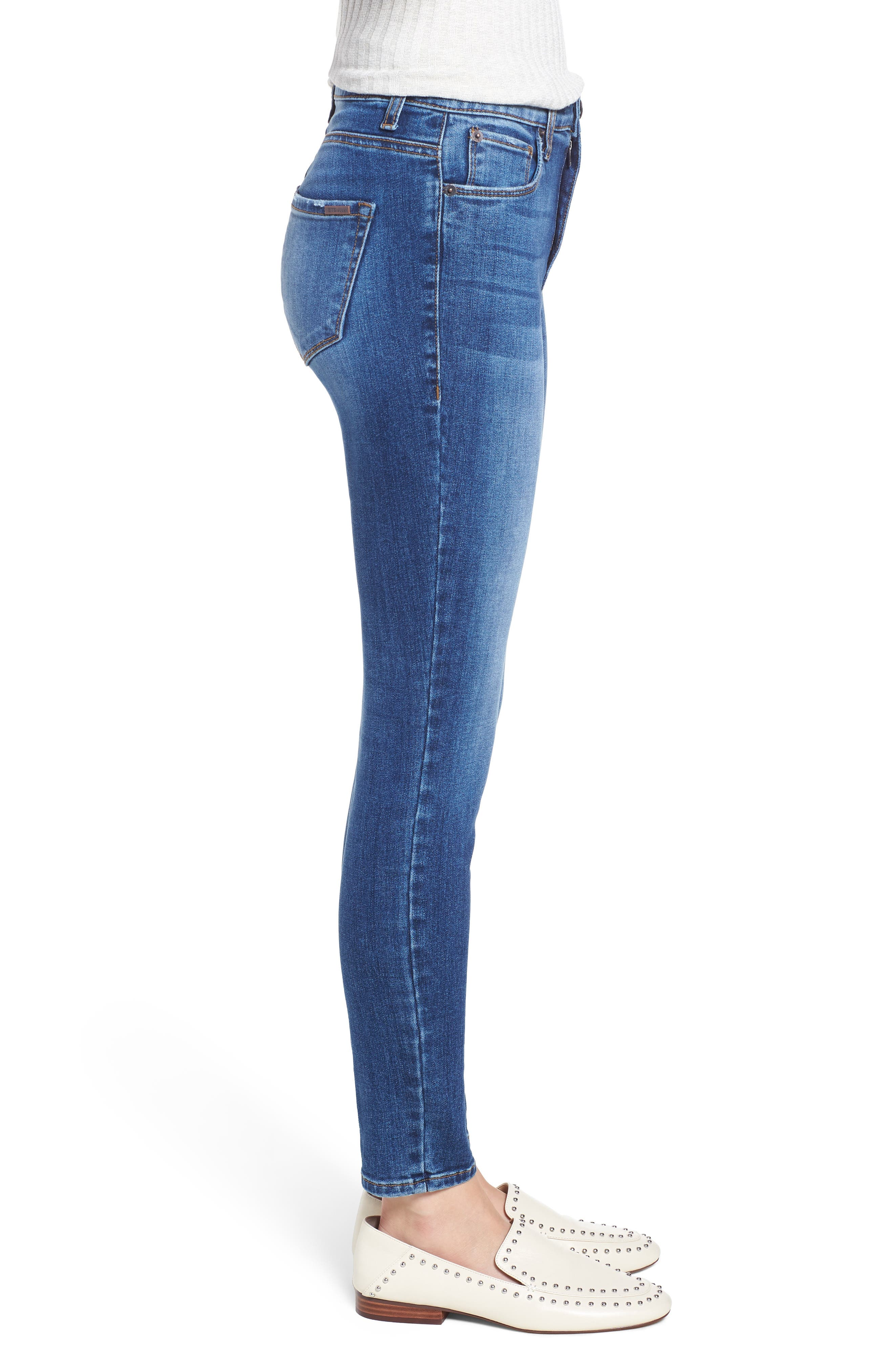 Emma High Waist Ankle Skinny Jeans,                             Alternate thumbnail 3, color,                             MERRYL