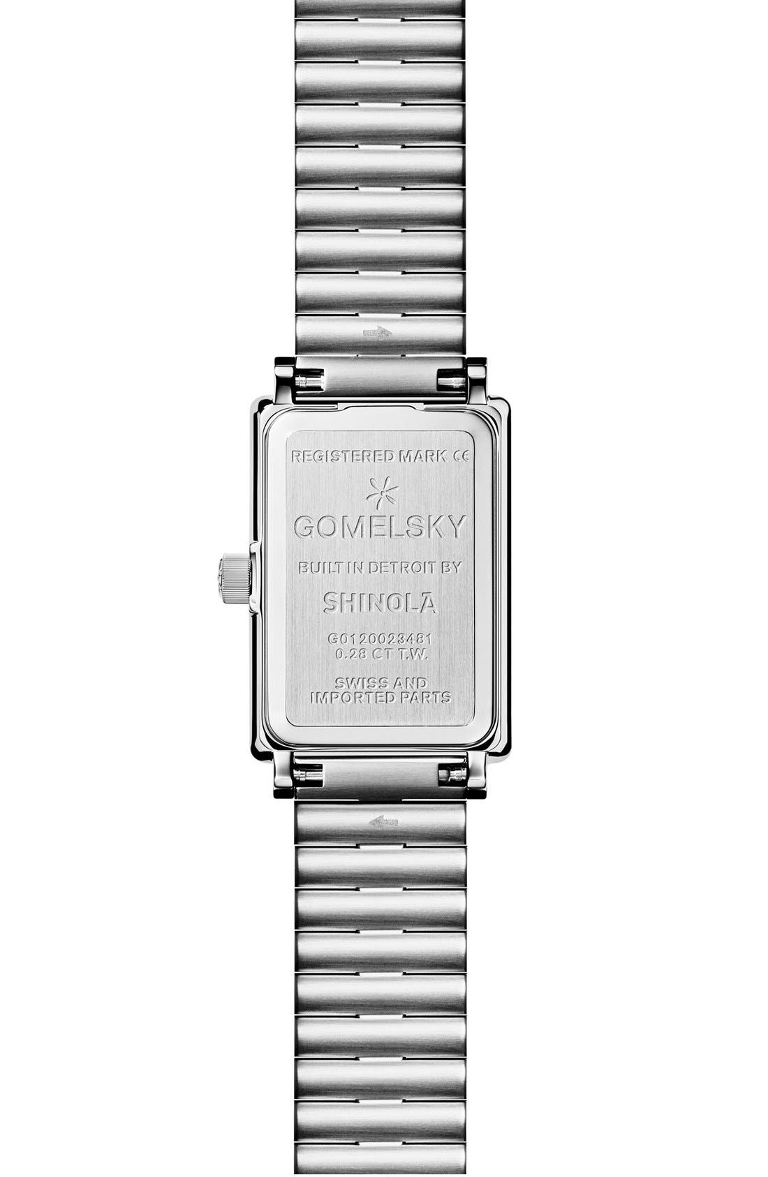 The Shirley Fromer Diamond Bracelet Watch, 18mm x 26mm,                             Alternate thumbnail 2, color,                             SILVER/ SANDSTONE