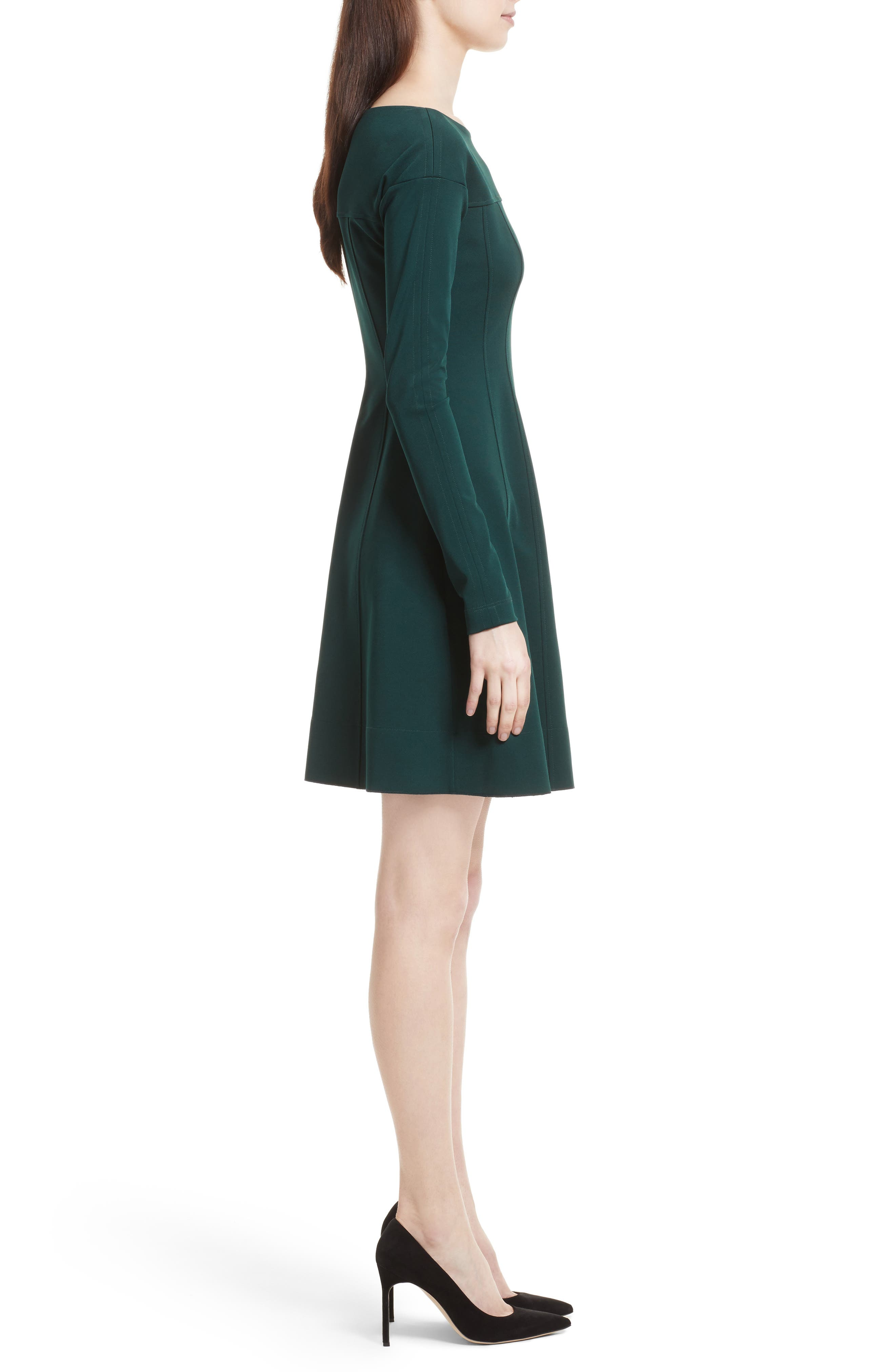 Valentina Scuba Knit A-Line Dress,                             Alternate thumbnail 6, color,