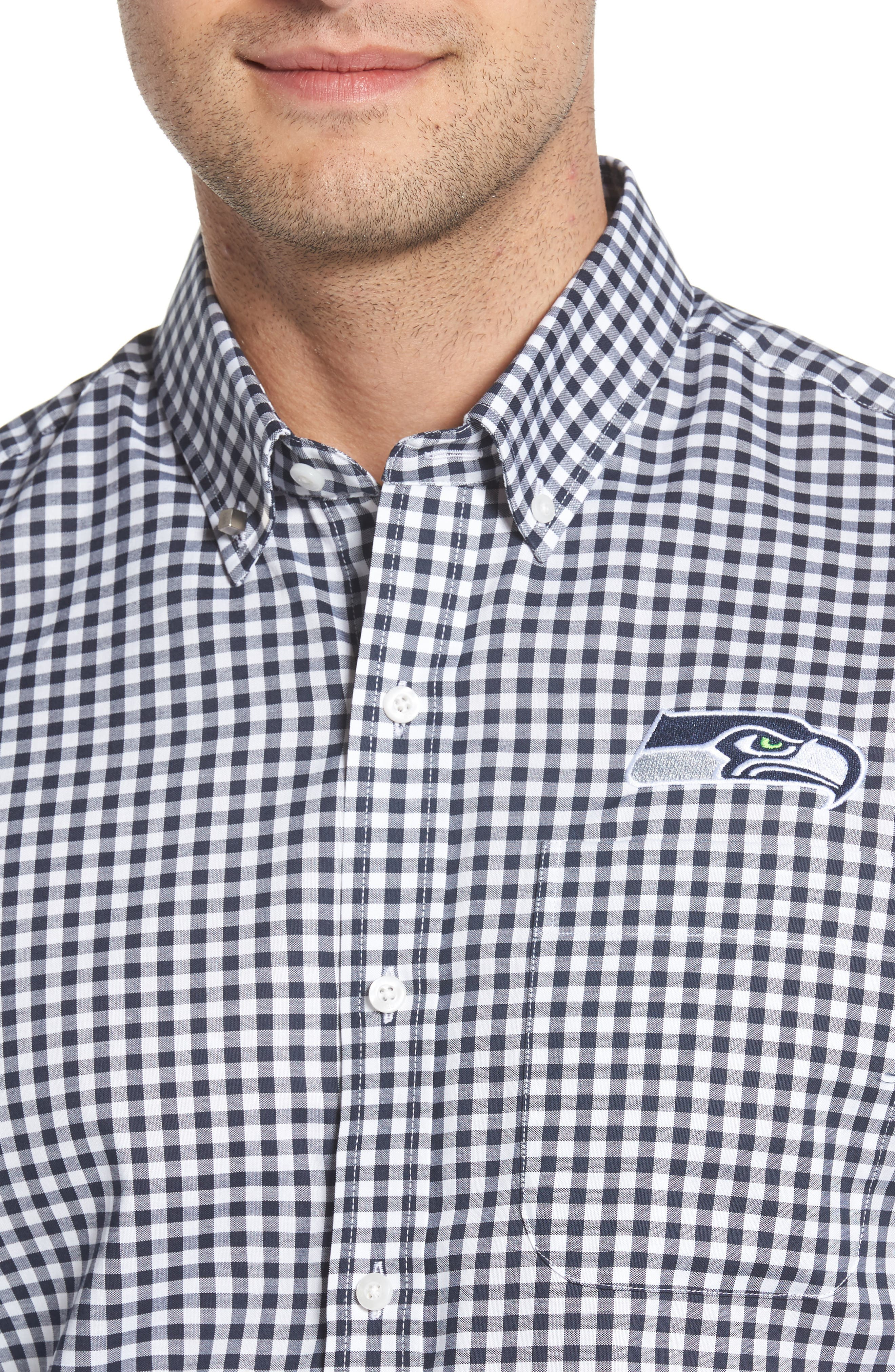 Seattle Seahawks - League Regular Fit Sport Shirt,                             Alternate thumbnail 4, color,                             LIBERTY NAVY