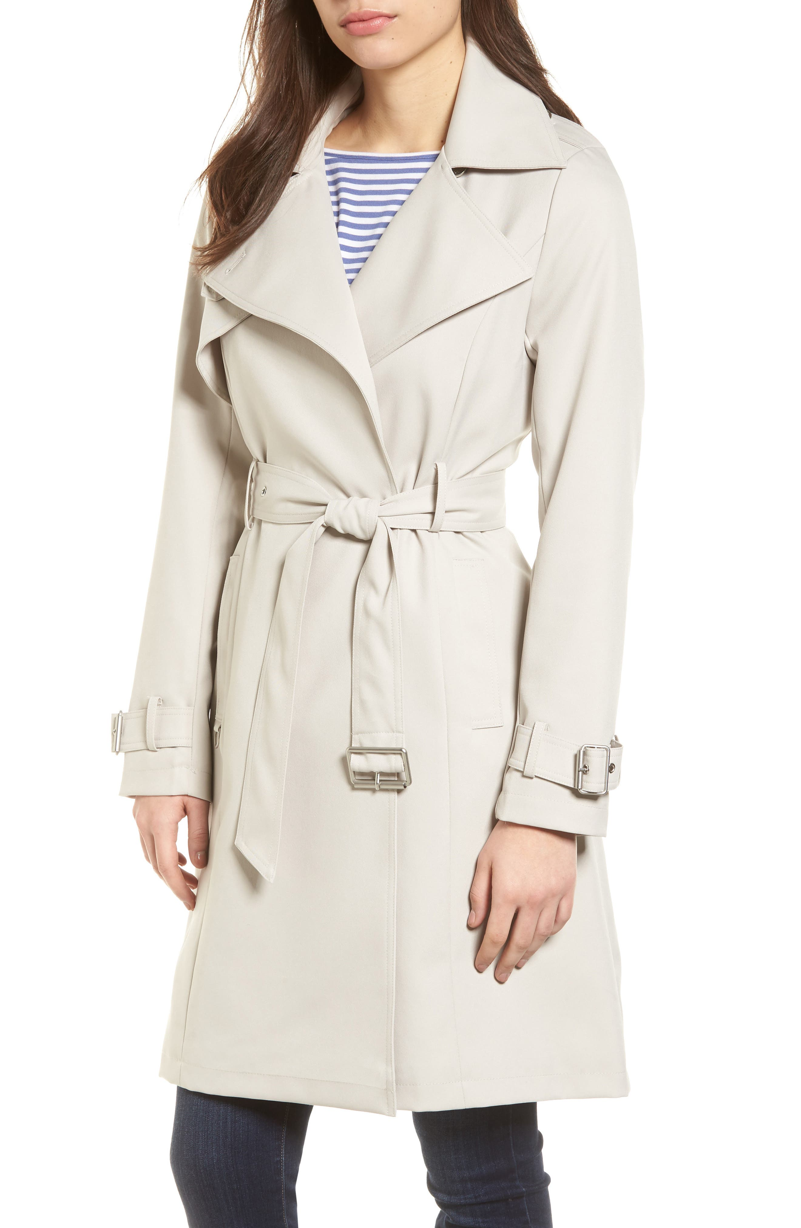 Flowy Belted Trench Coat,                             Main thumbnail 1, color,