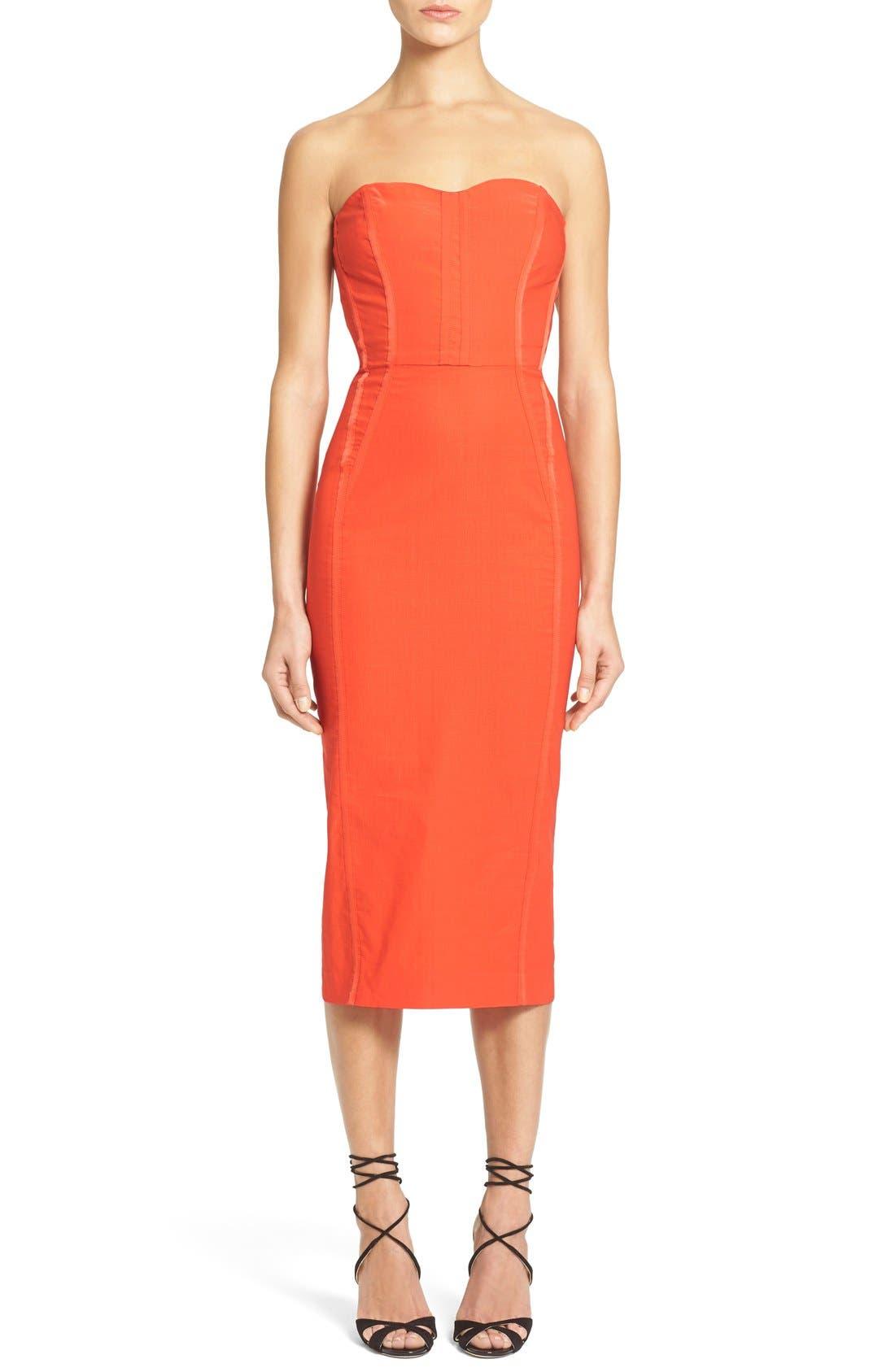 'Maui' Strapless Bustier Dress, Main, color, 606