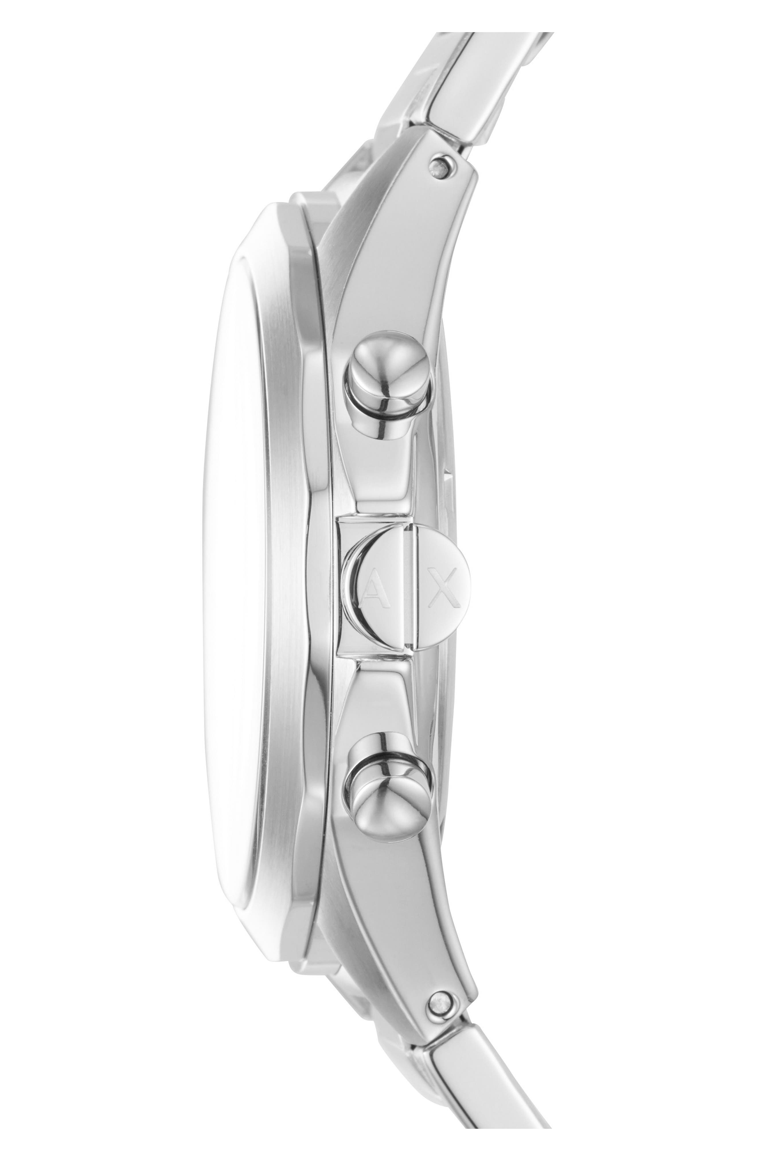 Chronograph Bracelet Watch, 44mm,                             Alternate thumbnail 2, color,                             BLACK/ SILVER