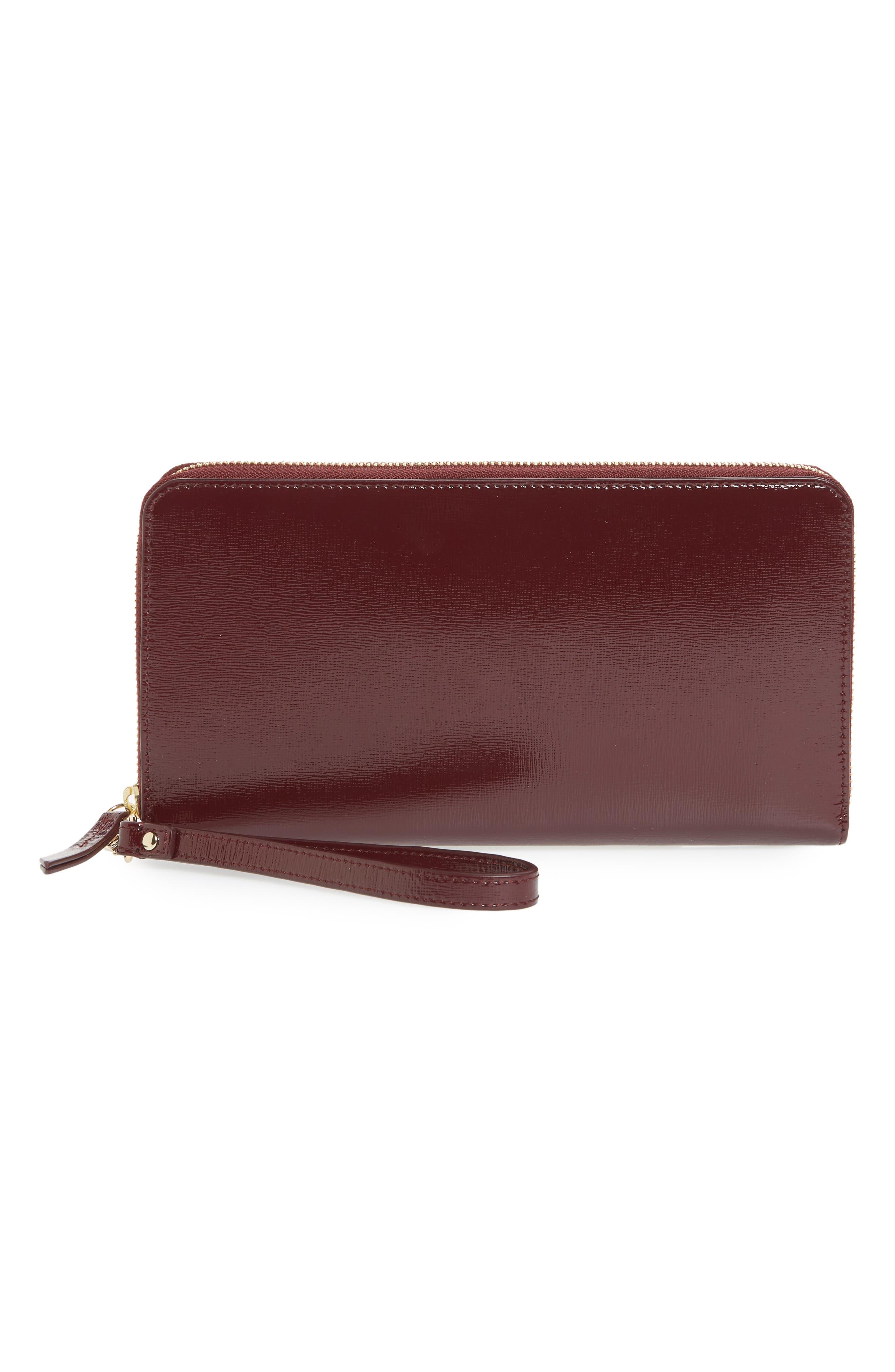 Wanderlust Leather Travel Wallet,                         Main,                         color, BURGUNDY ROYALE