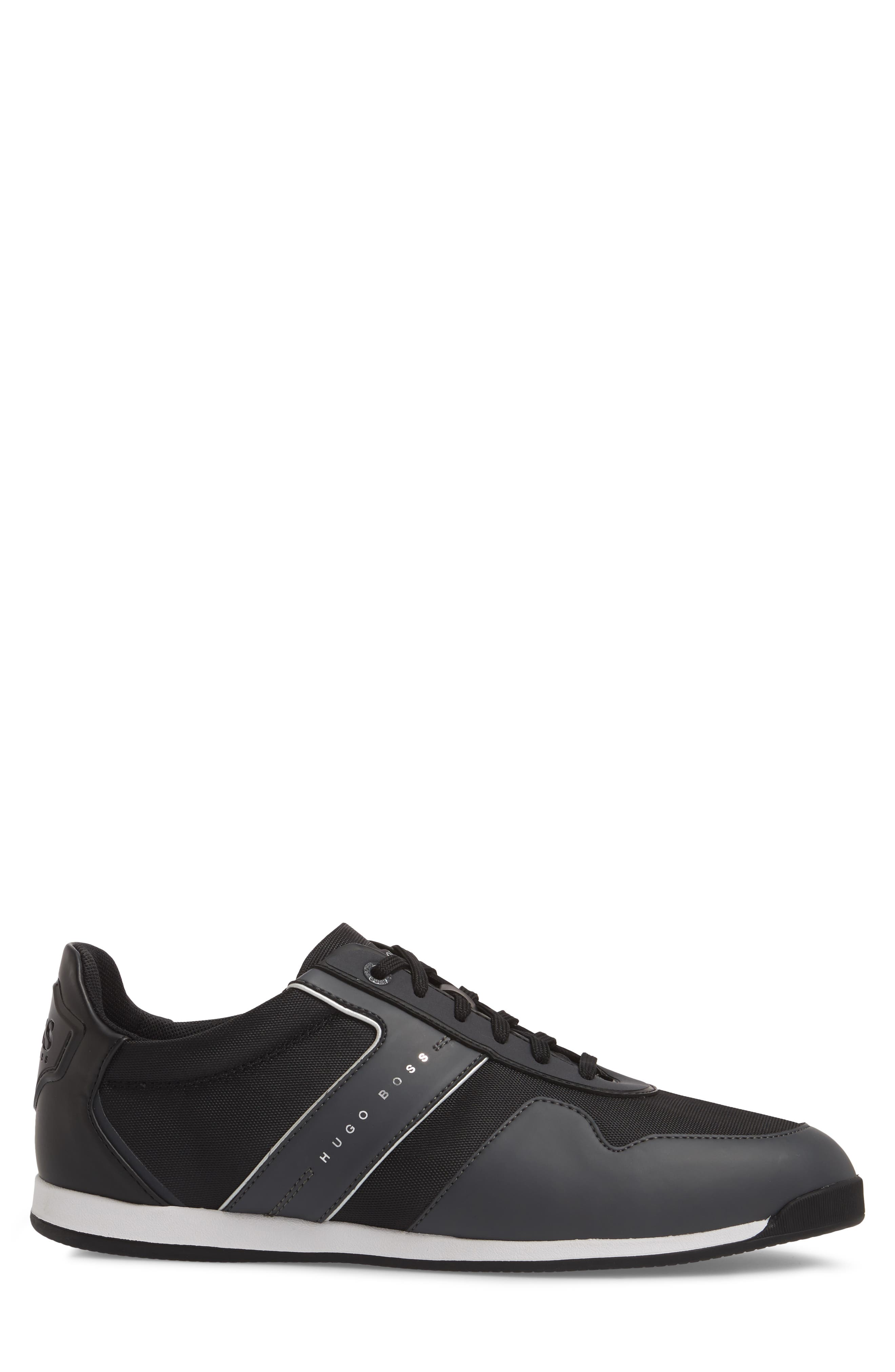 Maze Water Resistant Low Top Sneaker,                             Alternate thumbnail 3, color,                             CHARCOAL