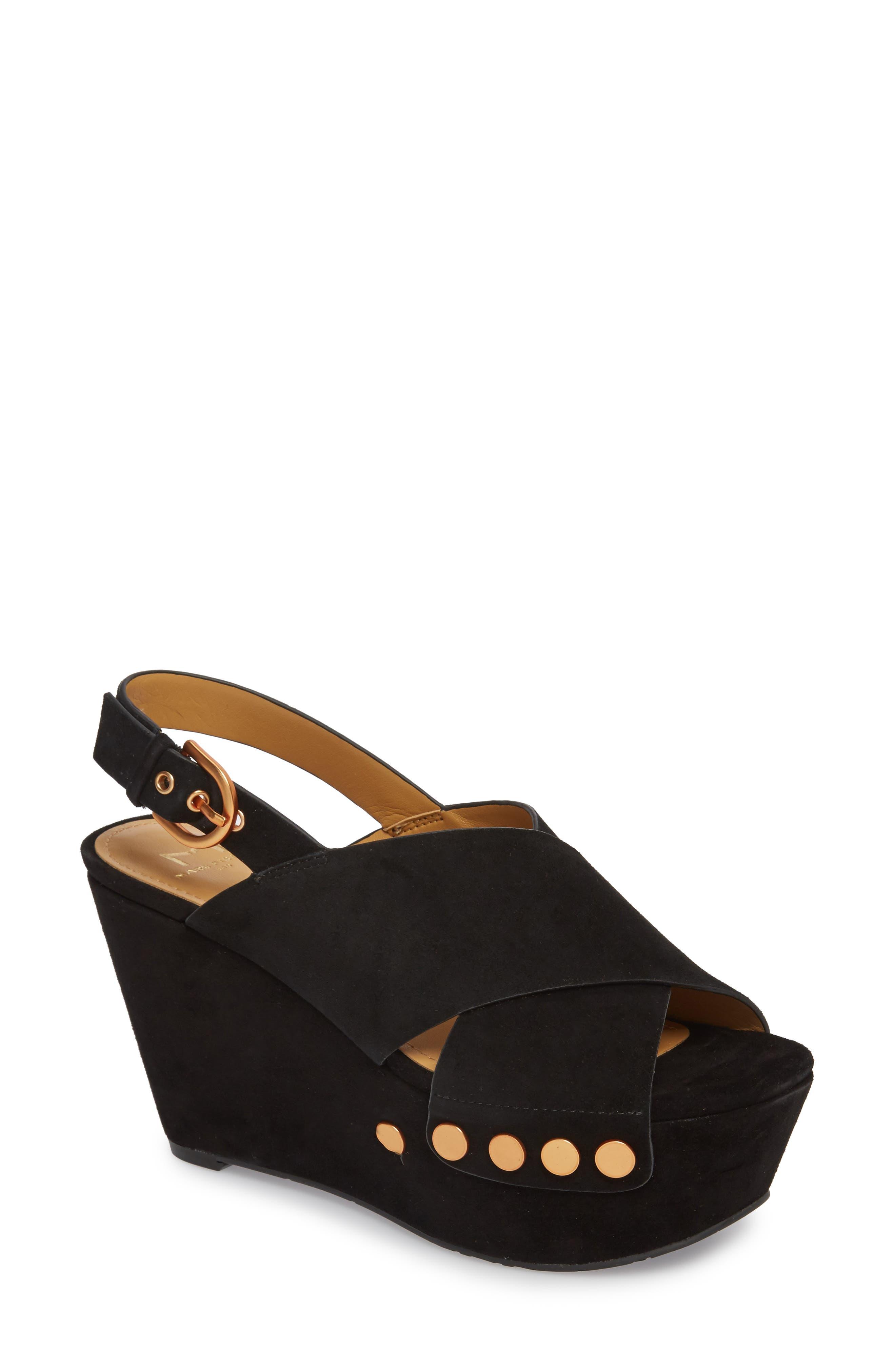 Barlow Wedge Sandal,                         Main,                         color, 001